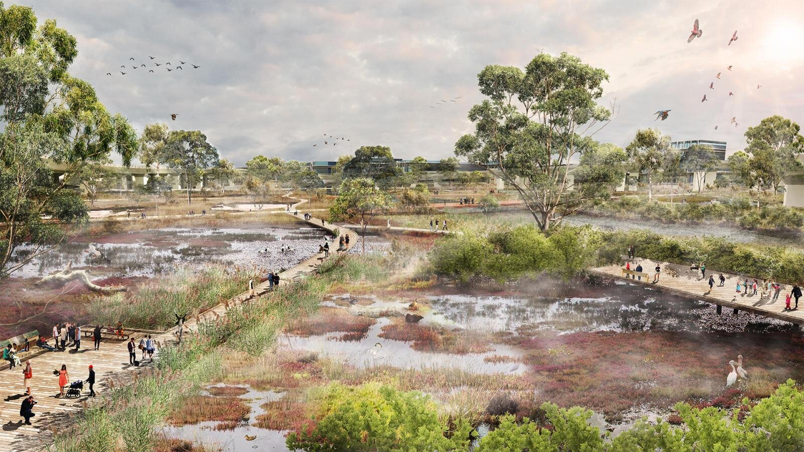 The Moonee Ponds Creek plan will encourage social and ecological interaction.