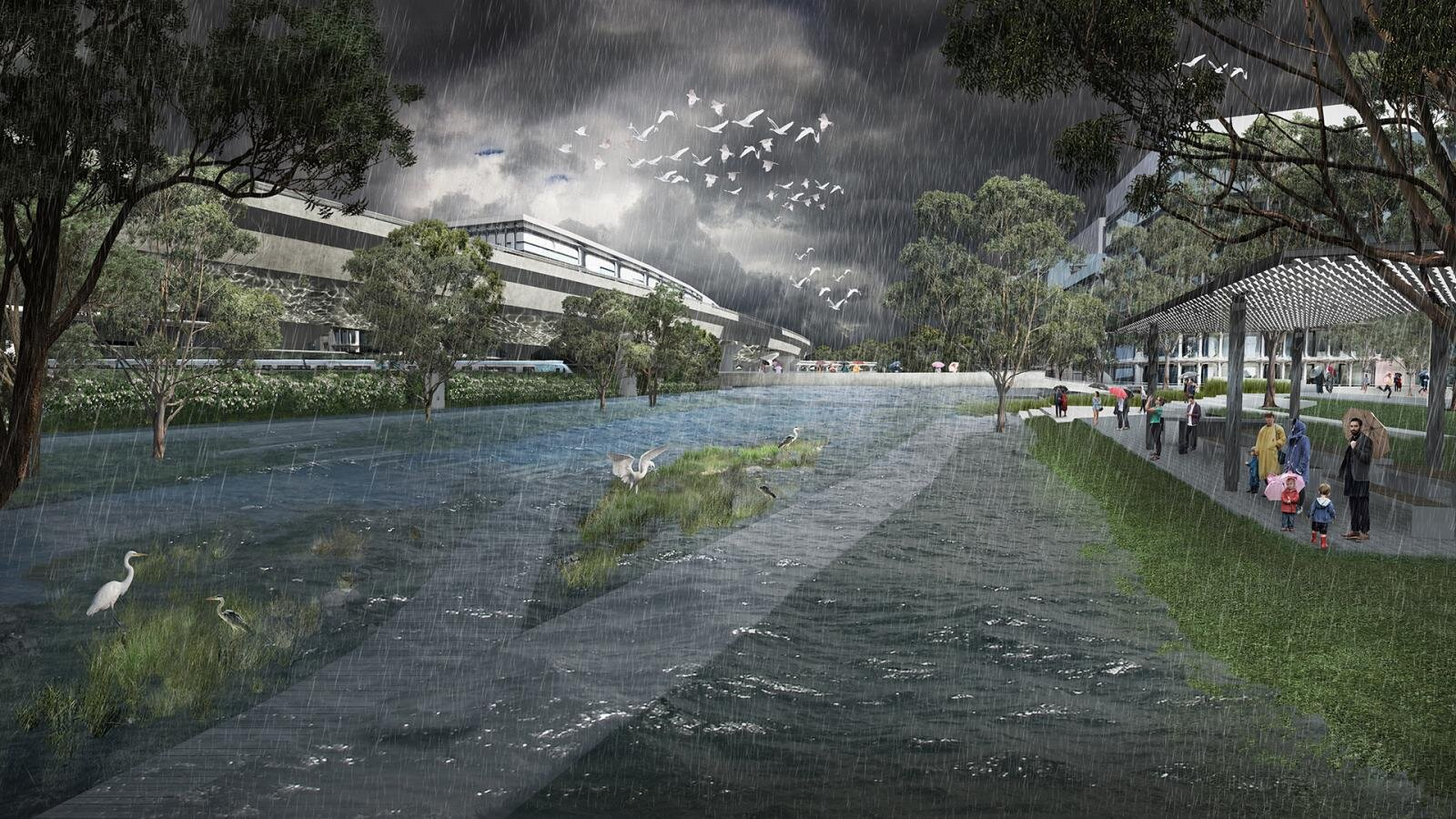 The plan includes a flood resiliency system.