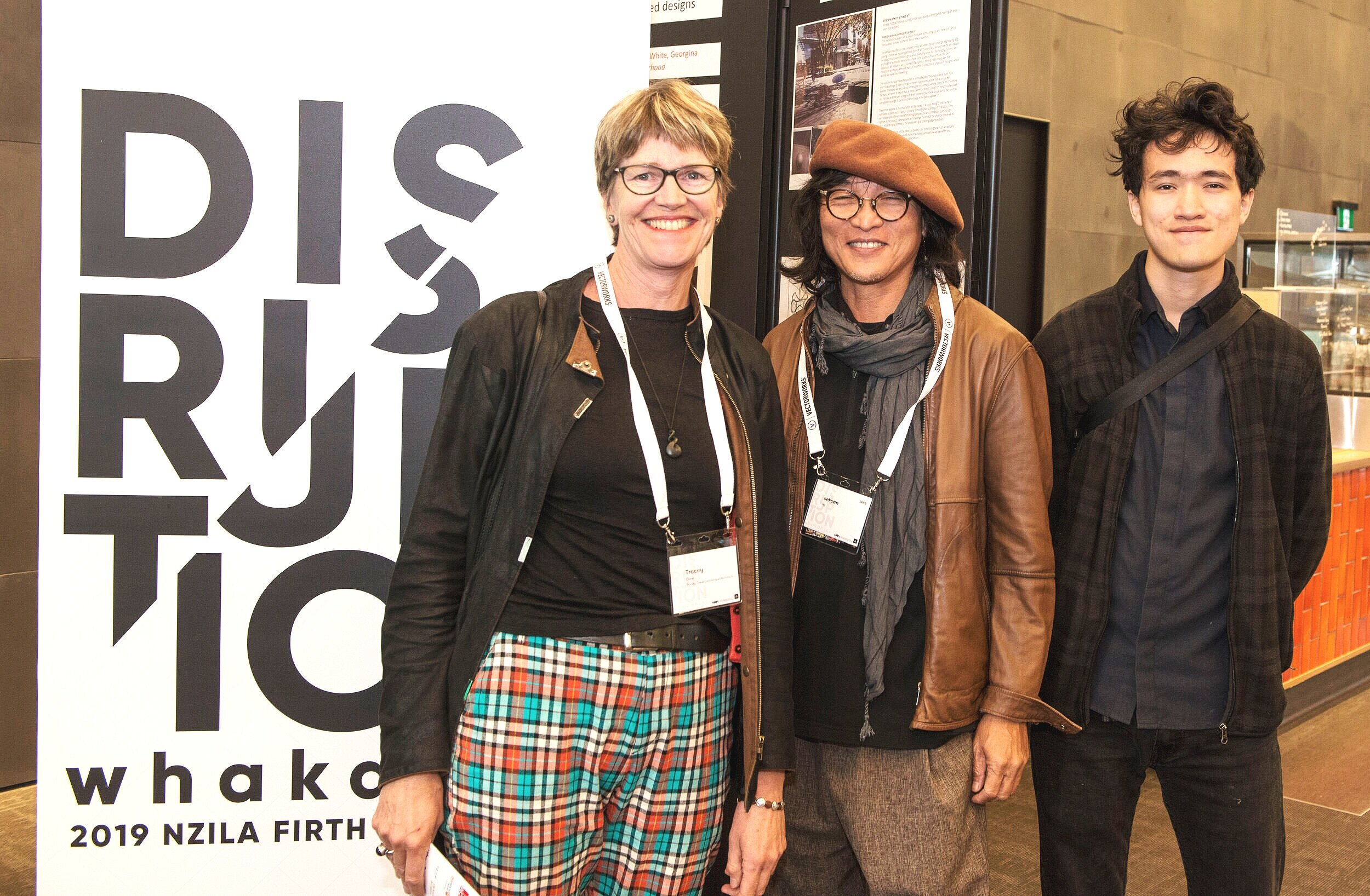 One of the international speakers, Ng Sek San (middle) at the conference opening in Christchurch last night.