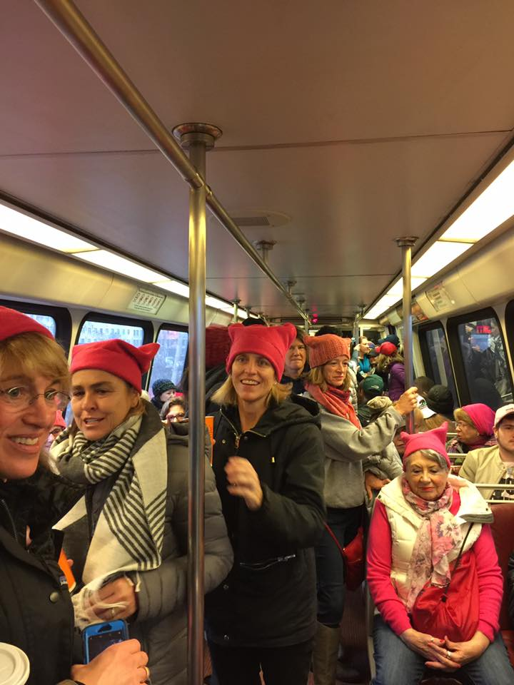Buses Leave for D.C. Women's March