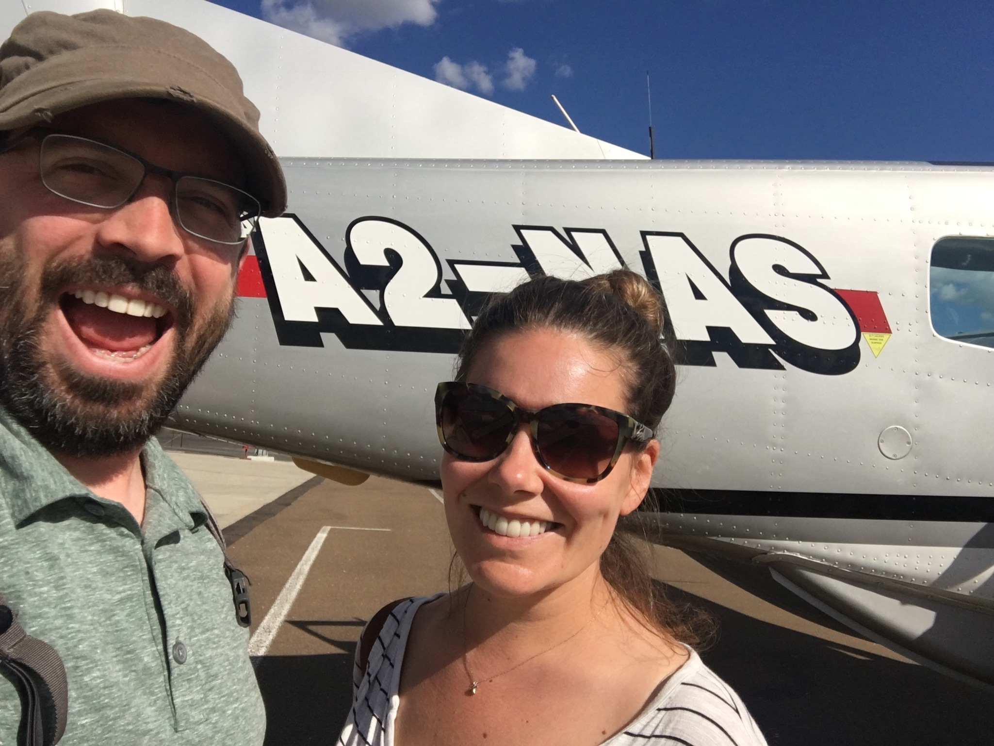 Boarding our flight to Zavuti
