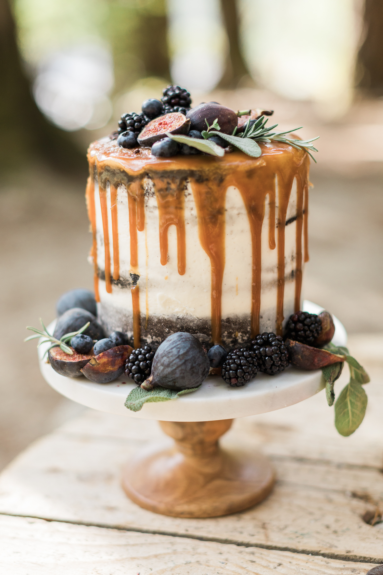 Salted Caramel Translucent Cake:  Eat More Cake by Candice  Image:  Joanna Monger