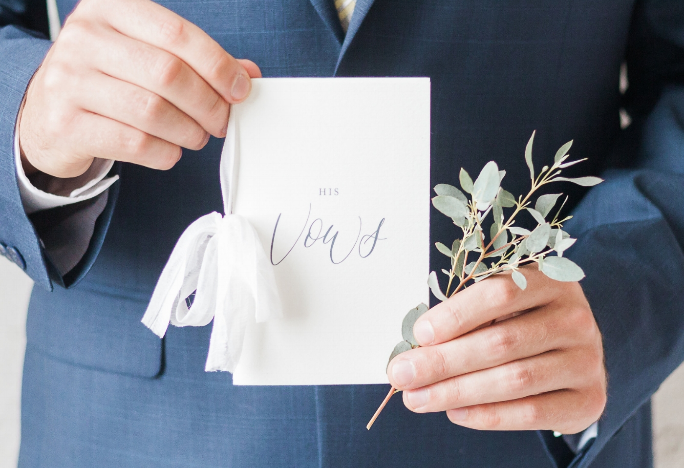 Vow book from  Sablewood Paper Company