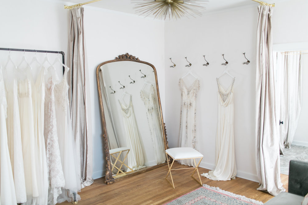 The dress theory seattle  is a favorite with rock & stone brides