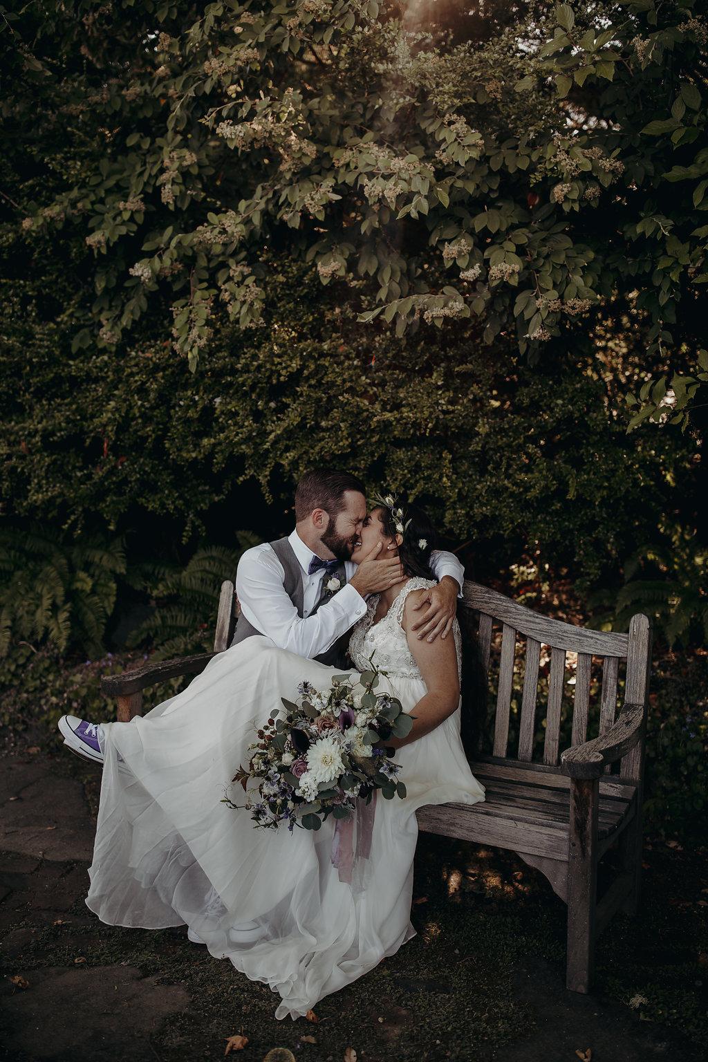 Rachel & Bryce: Elopement wedding at Lavender Hill Farm on