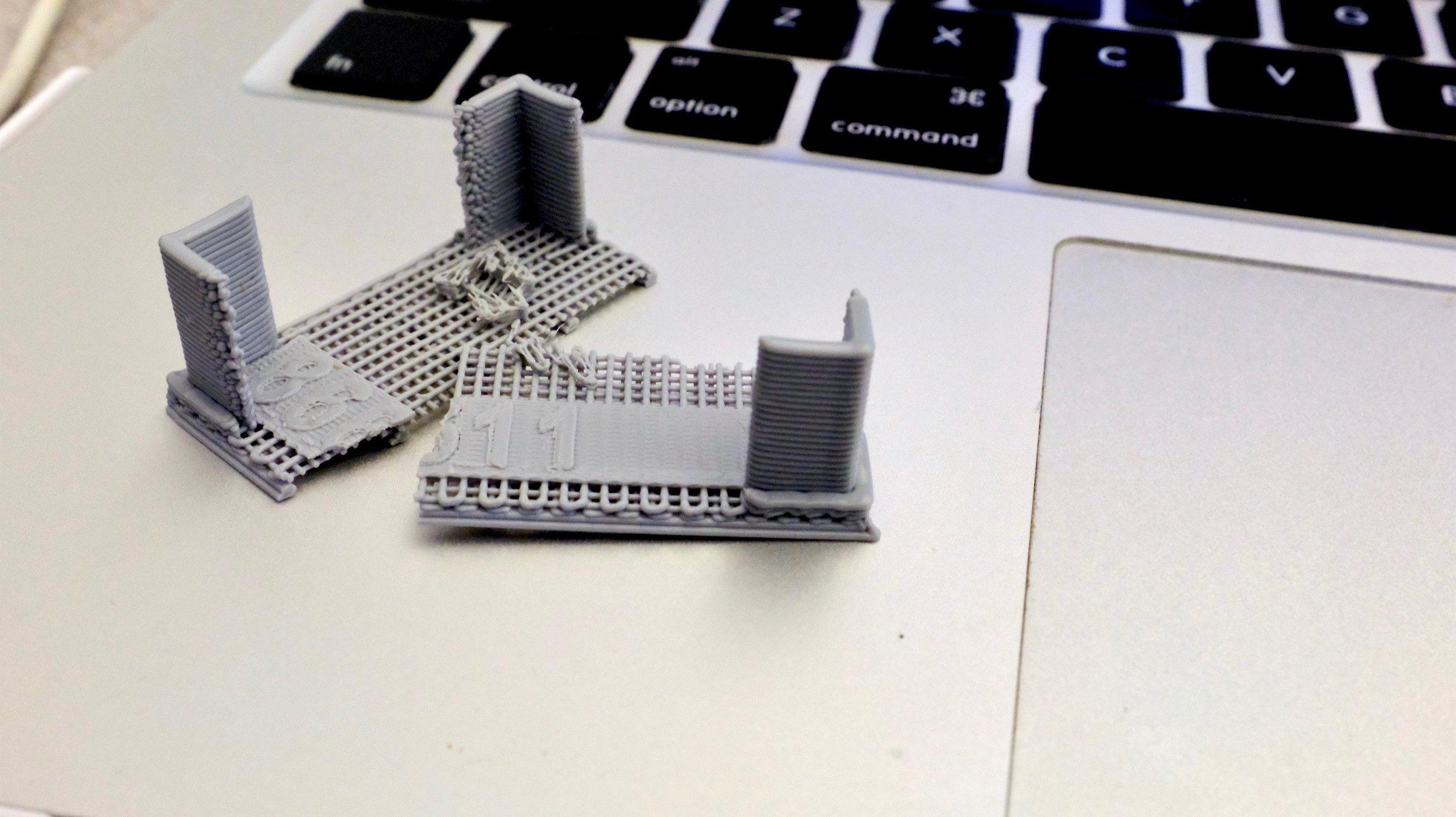Broken off support structure
