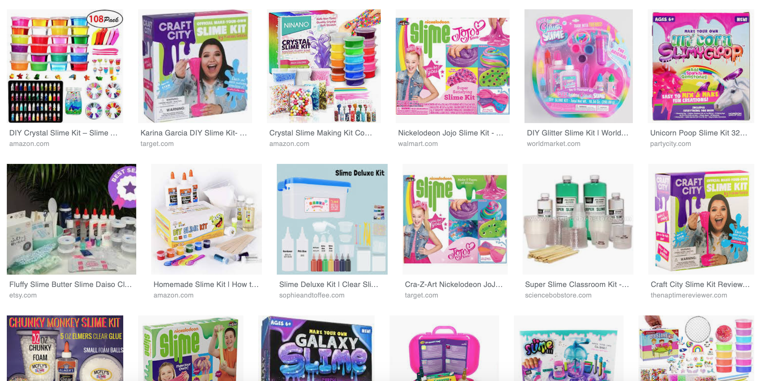Pictures of slime kits on google images