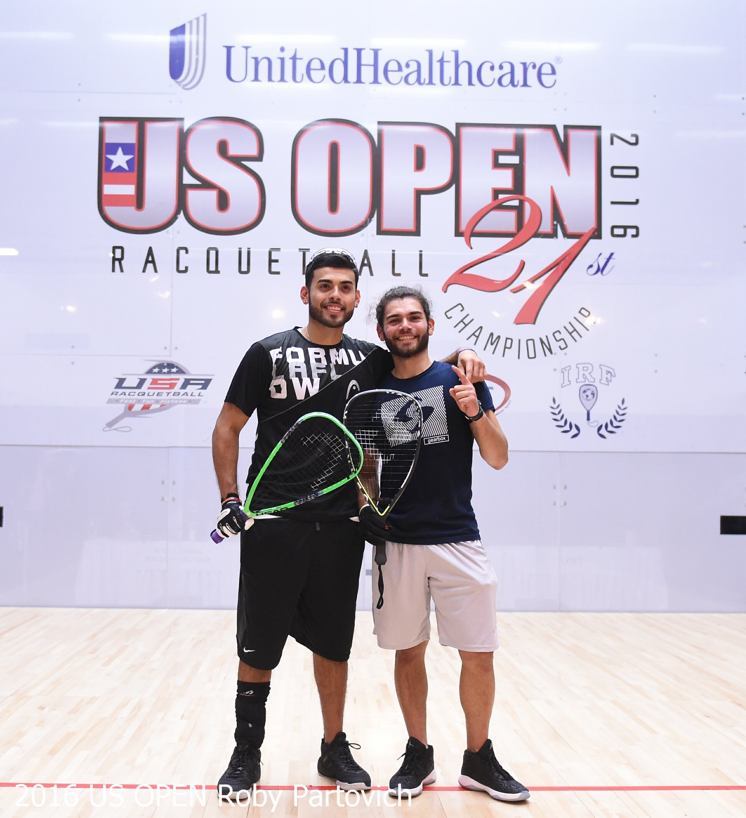 Markie and Jose Rojas after winning the 2016 US Open Pro Doubles.