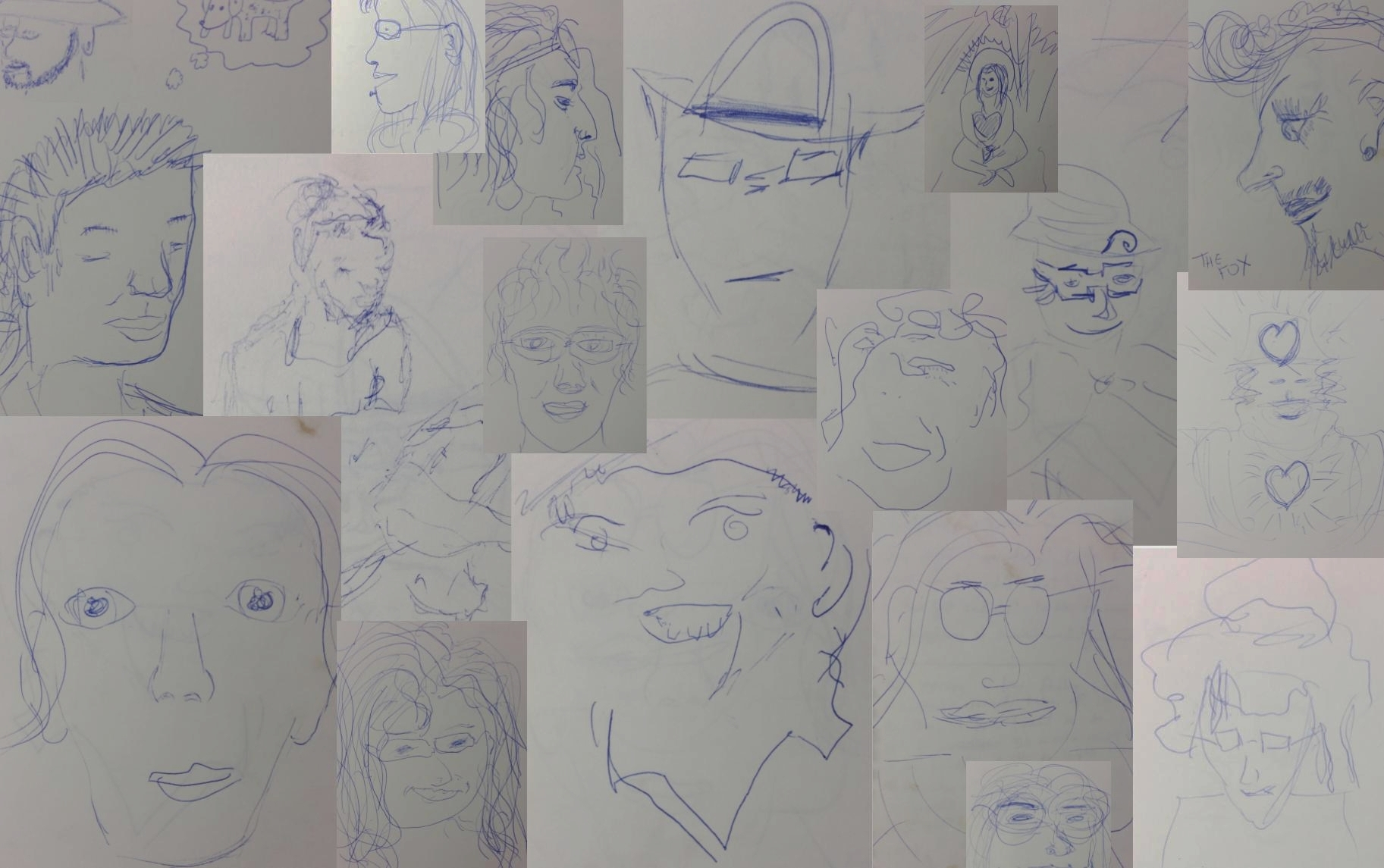 Get 1000 people to draw each other -