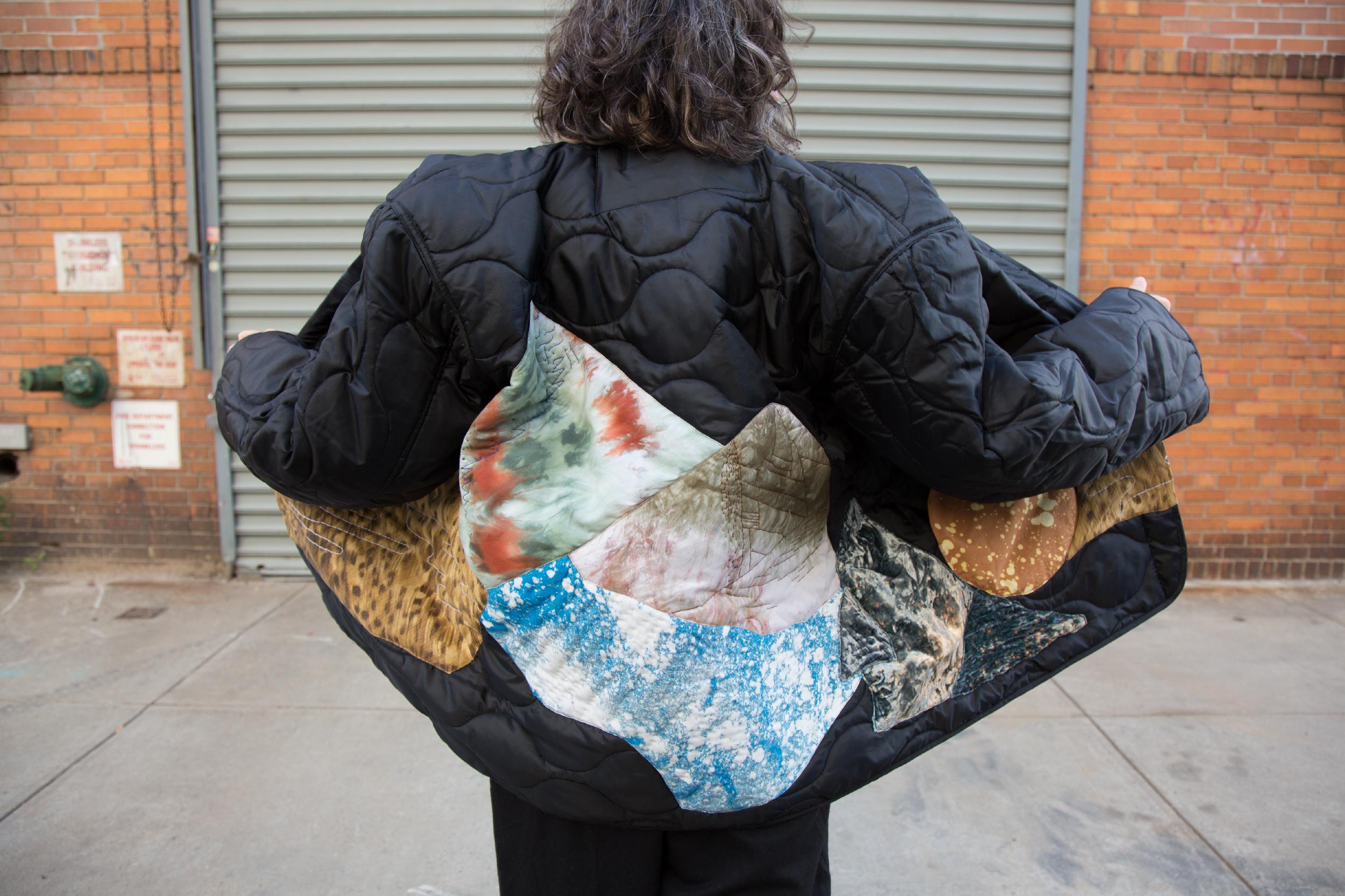 Infinite Landscape Jacket by VVORK VVORK VVORK designed and slow made by Zeynab Izadyar in Brooklyn, New York