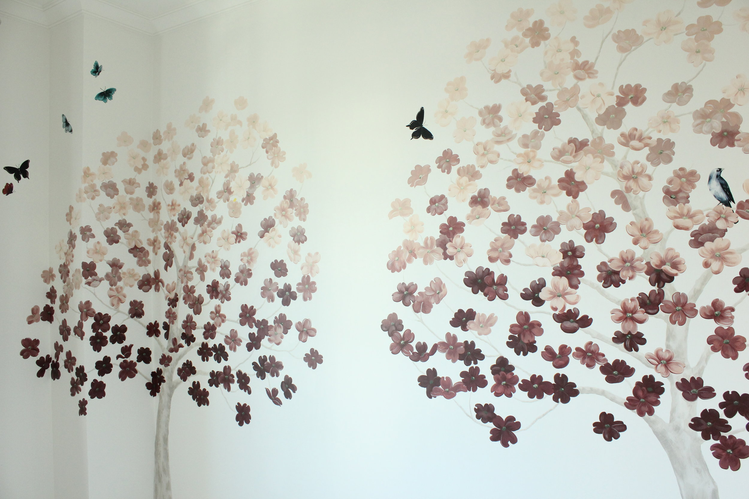 Dogwood mural wallpaper.JPG
