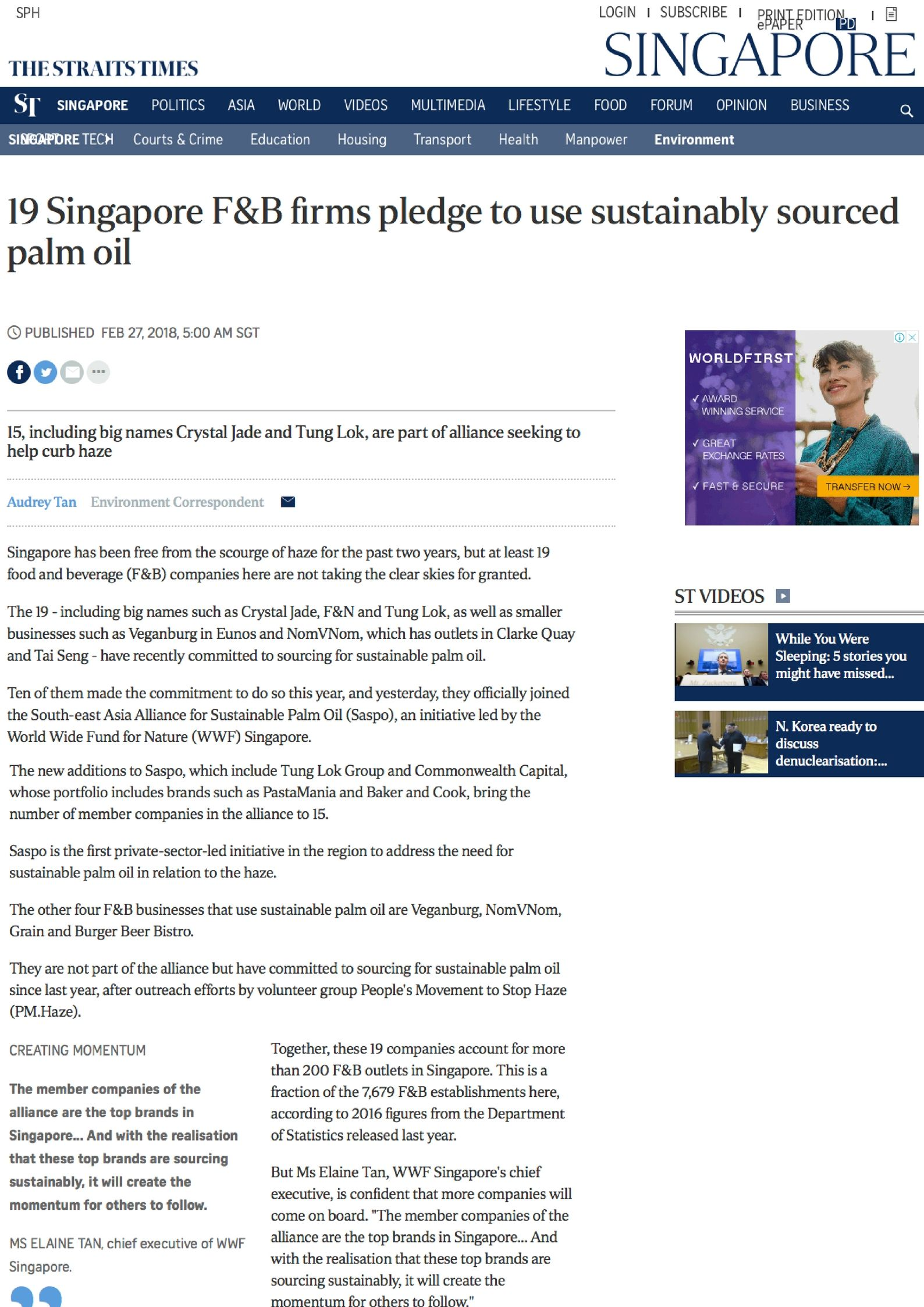 The Straits Time_ 19 Singapore F&B firms pledge to use sustainably sourced palm oil.jpg