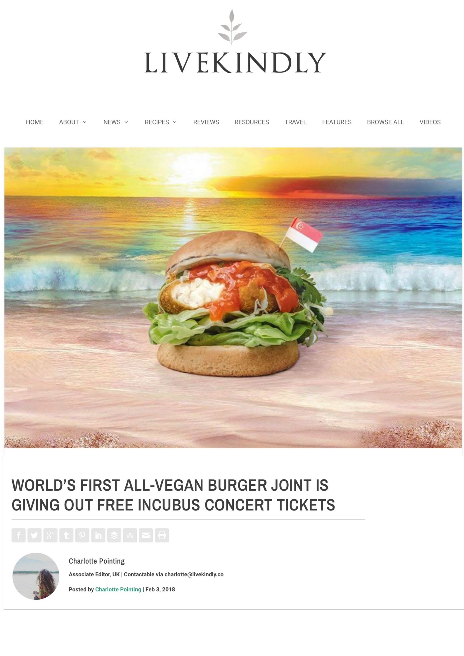 Popular vegan fast food joint, VeganBurg, has announced they are giving away 2 free tickets to see Incubus live in concert in Singapore on 9th February! The giveaway has been made possible through a partnership with .jpg