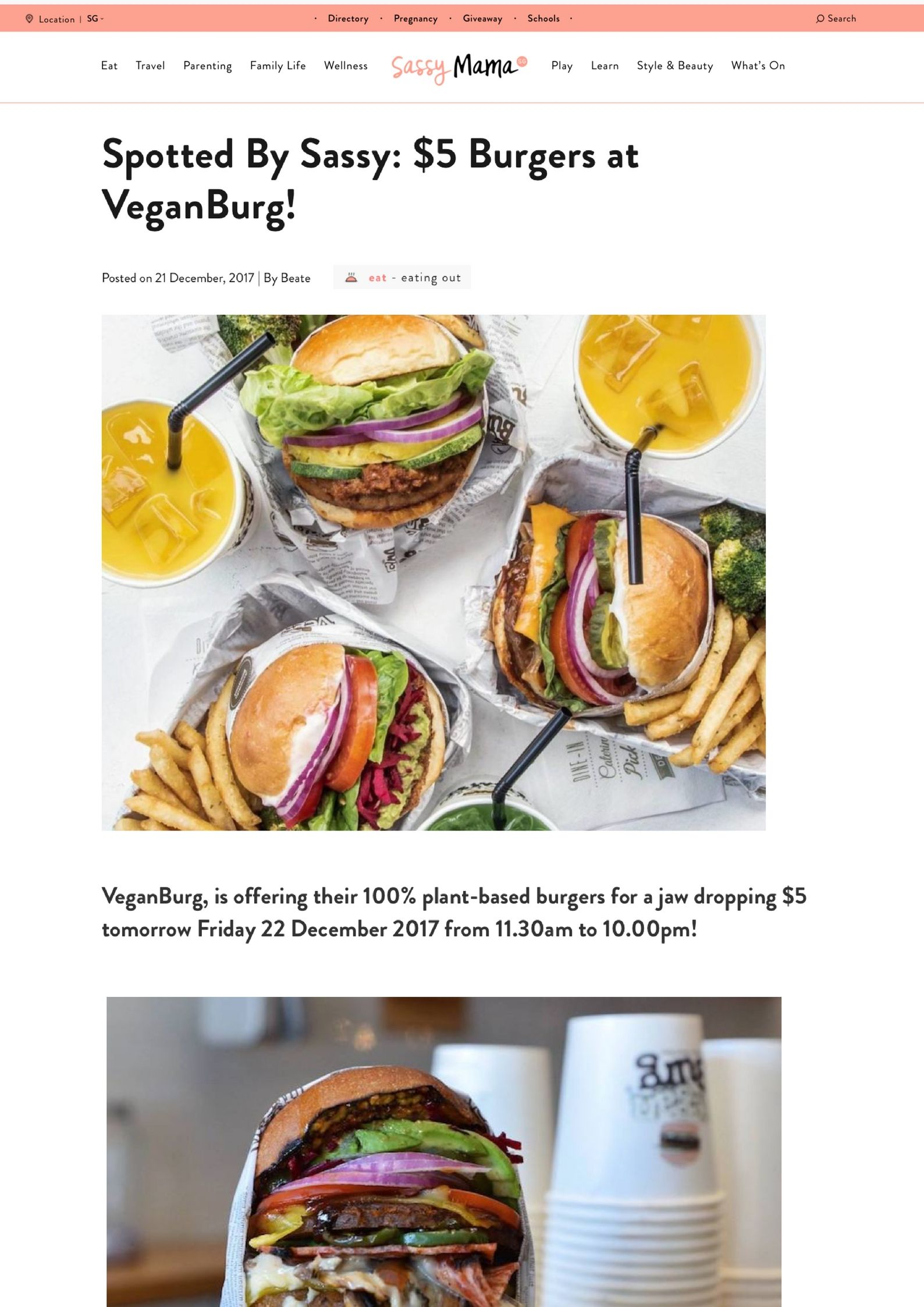 VeganBurg Eunos has a $5 Promo on their 100% plant based burgers this Friday from 1130am - 10pm! We know where we are headed when the munchies hit!.jpg