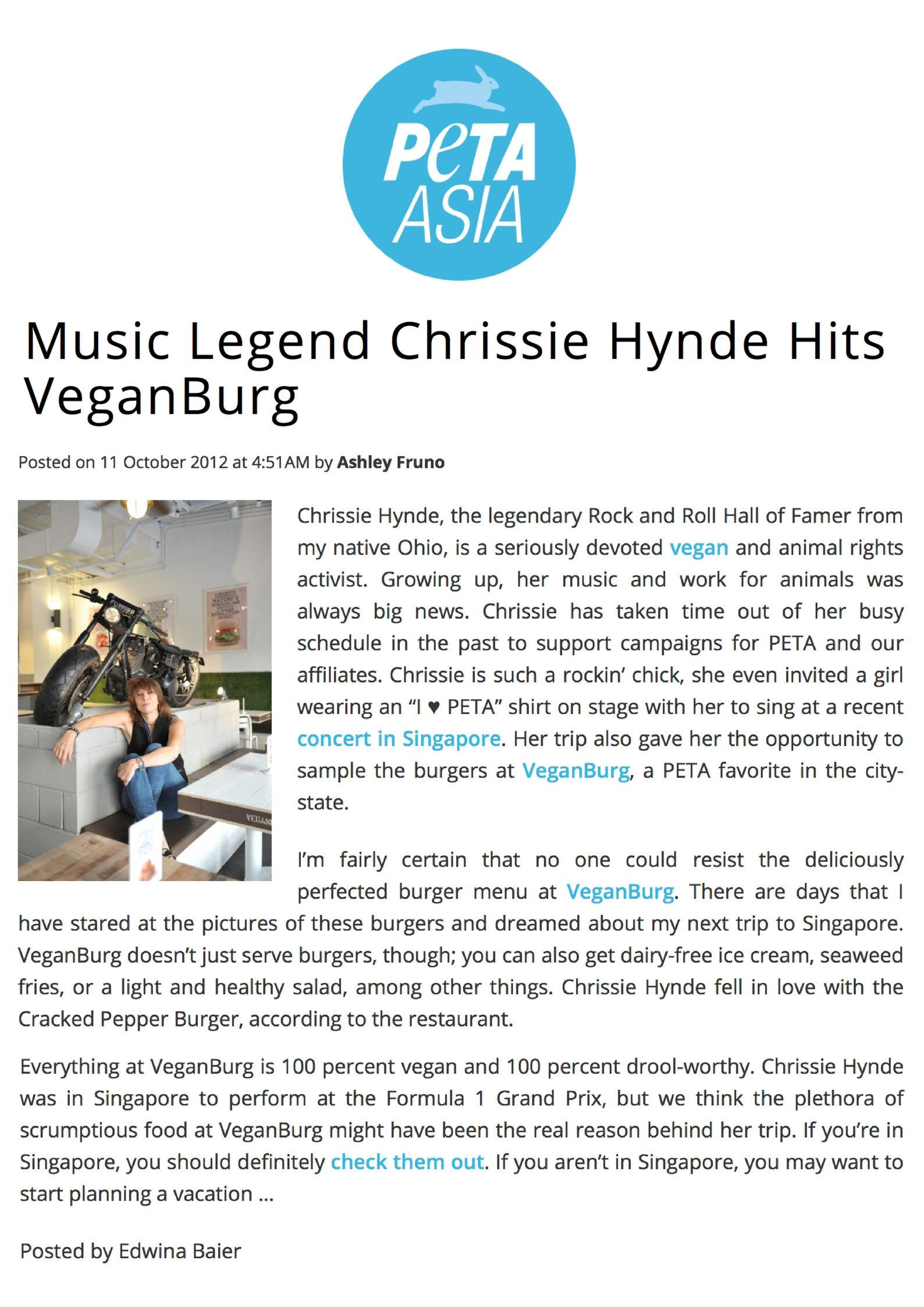 PETA Asia_ Music Legend Chrissie Hynde Hits VeganBurg.jpg