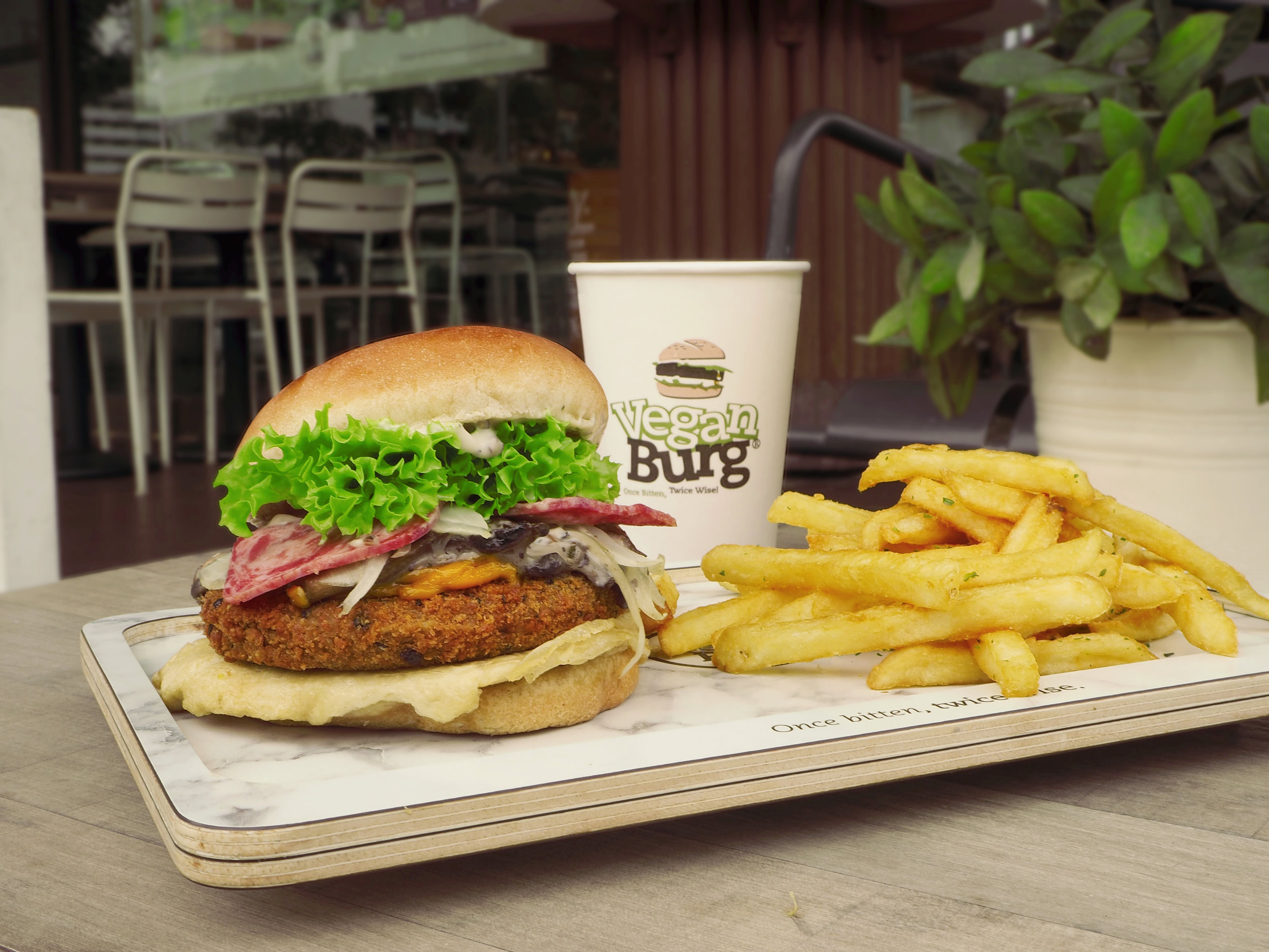 VeganBurg — VeganBurg Launches Anniversary Lucky #9 Burger