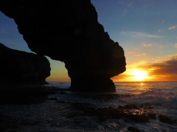 Talava Arches at sunset