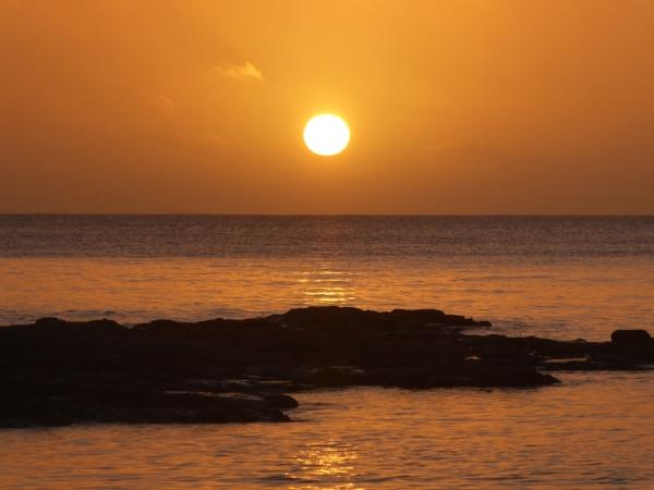 Avatele Beach sunset