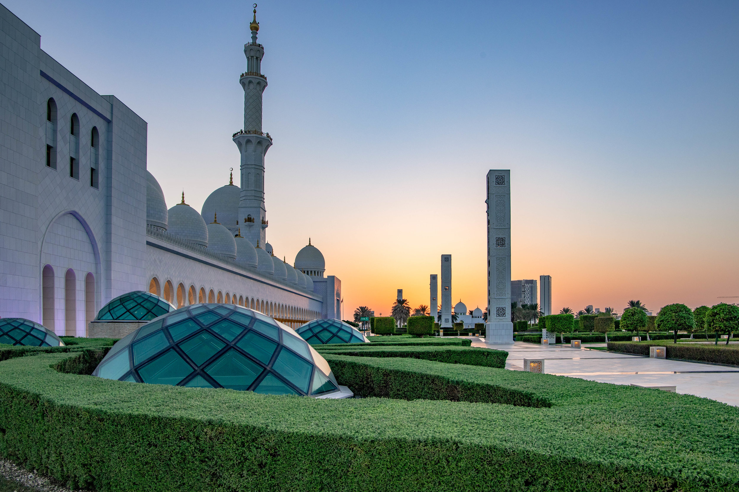 Dusk at the Grand Mosque