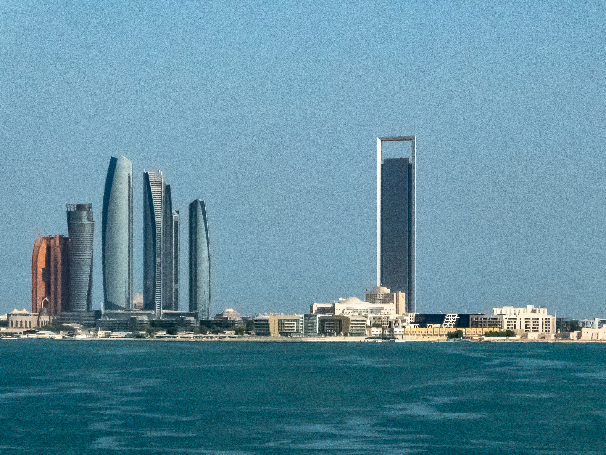 Abu Dhabi skyline seen daily on my running route