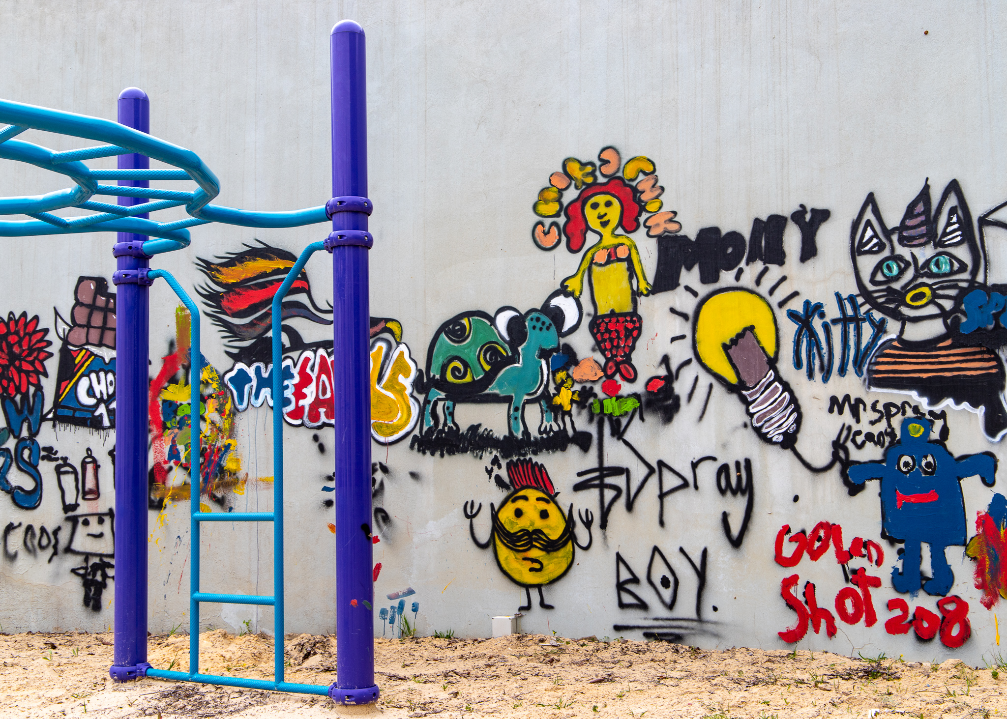 Apparently there's a burgeoning graffiti scene in Amman, which also extends to playgrounds