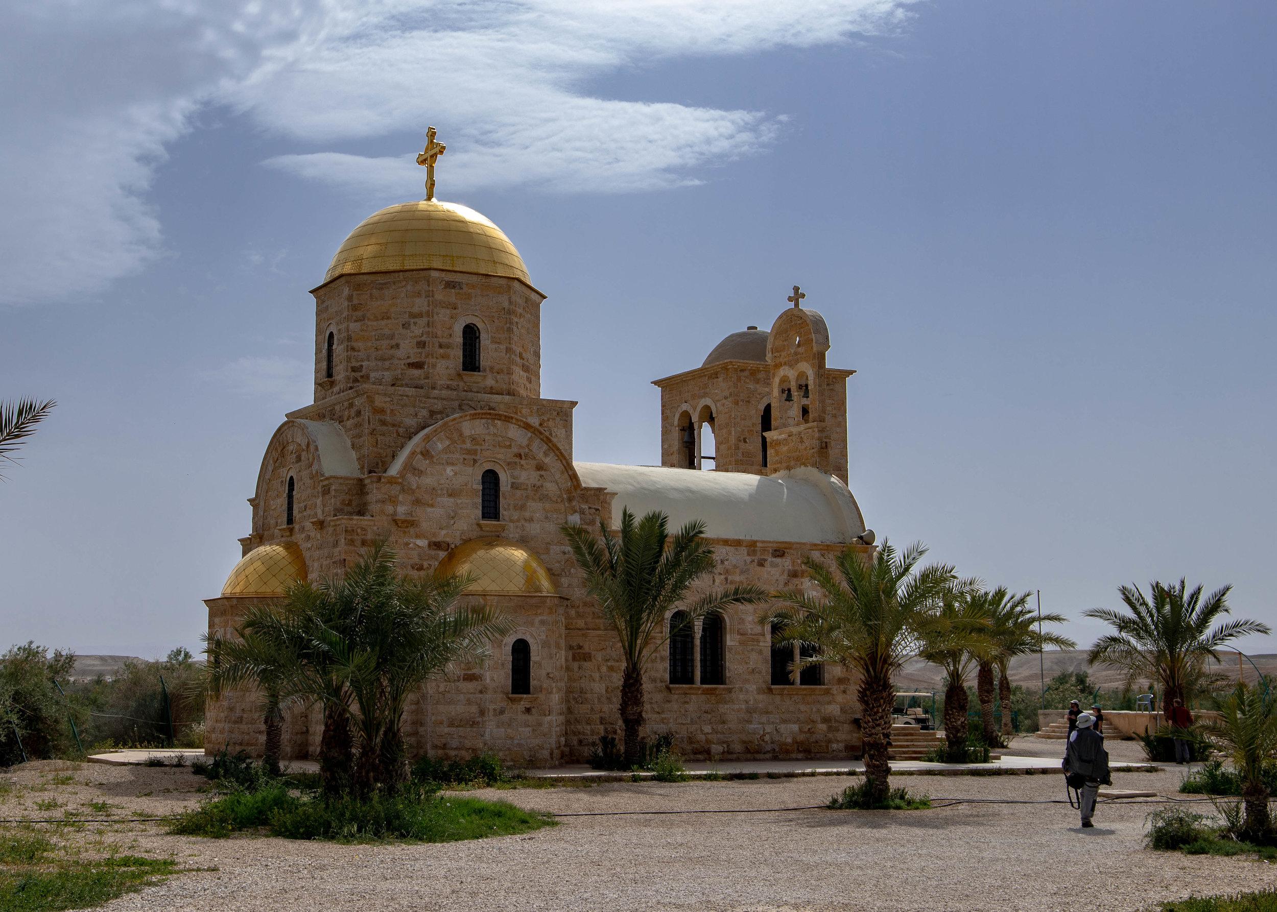 The striking Greek Orthodox Monastery of St John the Baptist.
