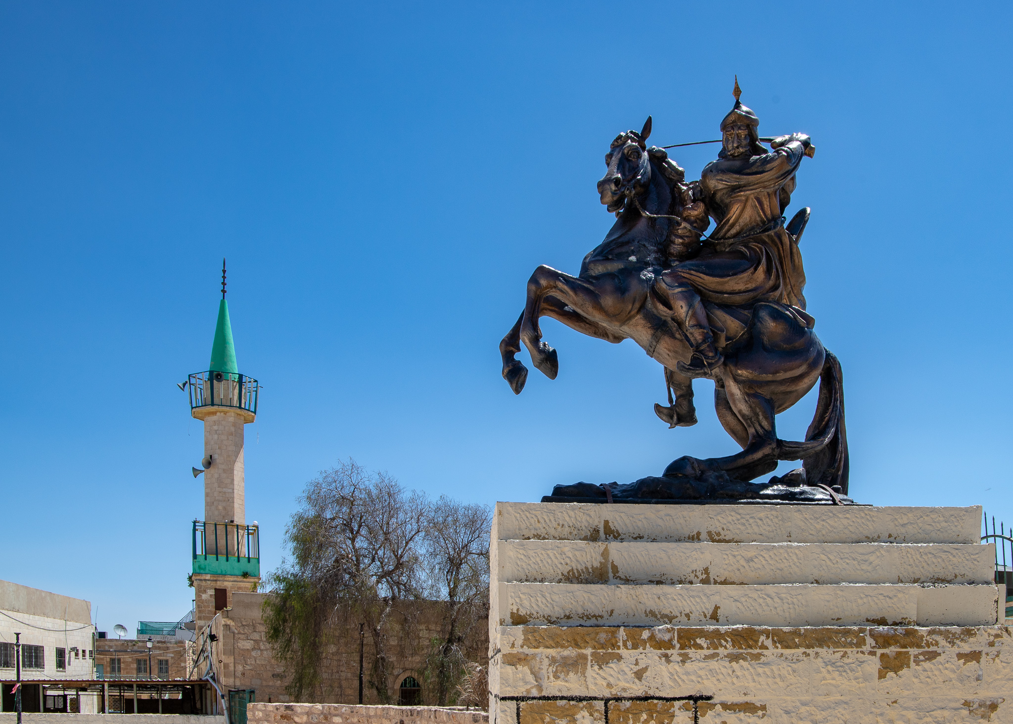 Statue of the famous Saladin