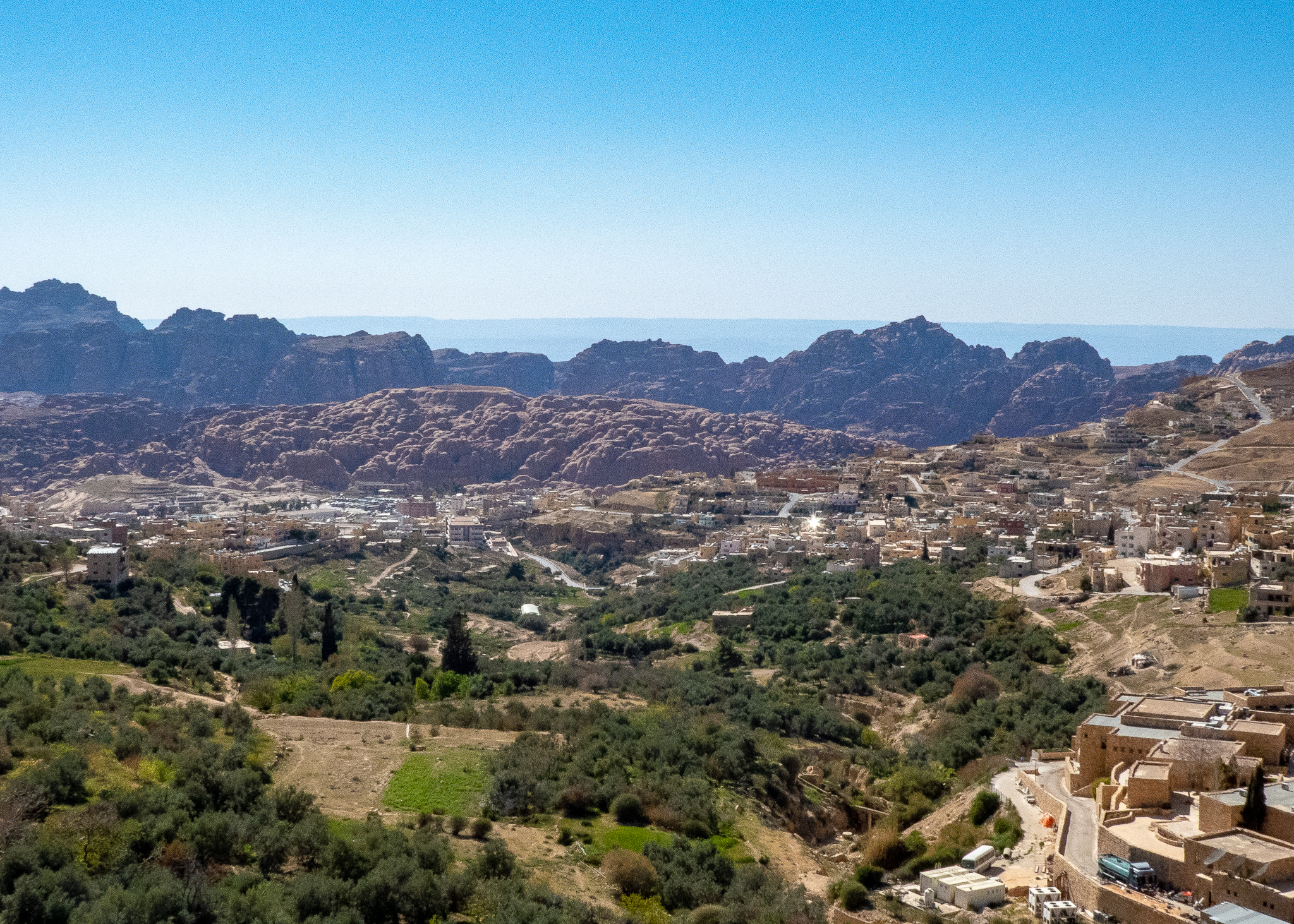 View down to Wadi Musa