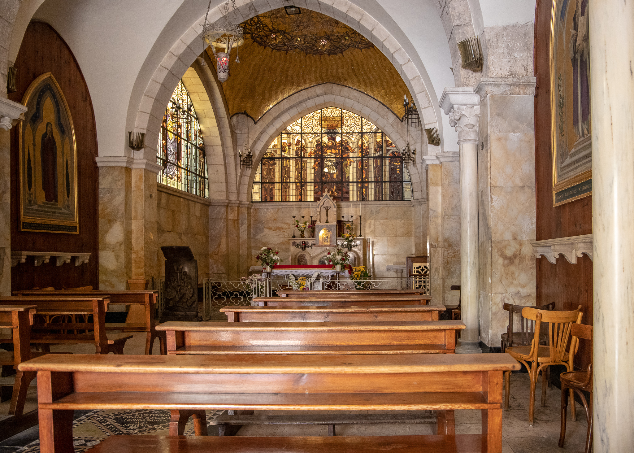 Inside the Church of the Flagellation