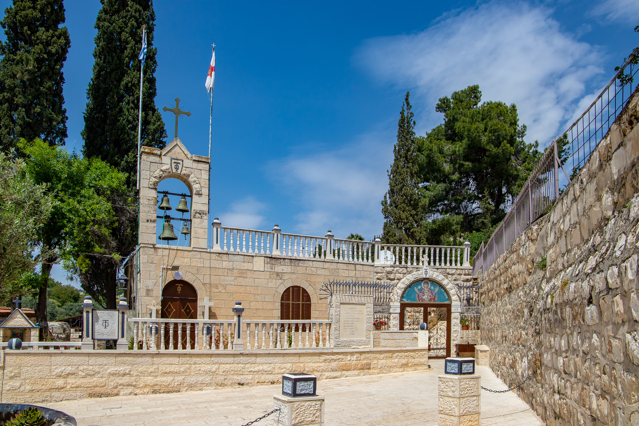 The pretty Abbey of Saint Mary of the Valley of Jehoshaphat, which sits beside the Tomb of the Virgin