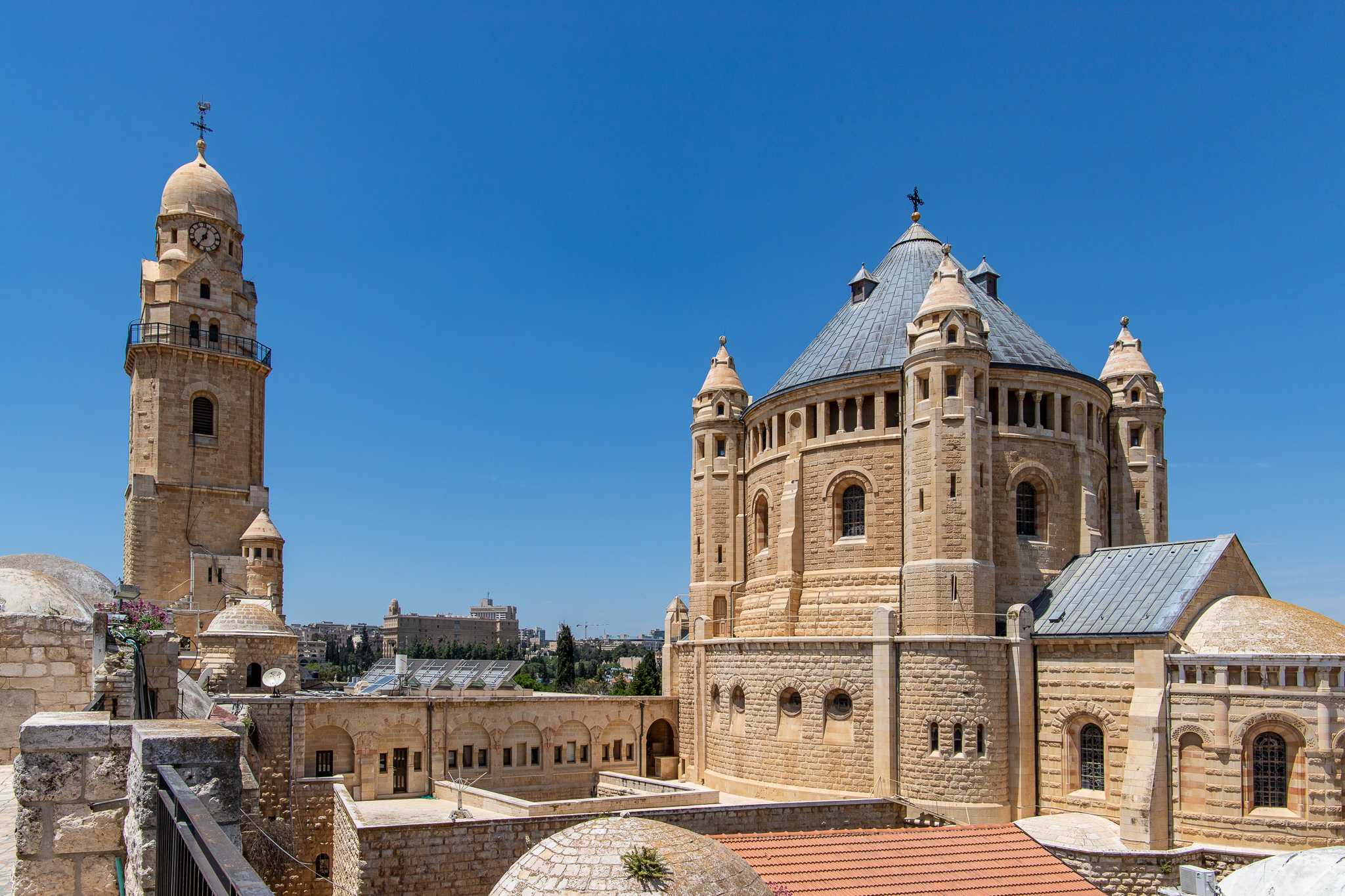 Abbey of the Dormition seen from the roof of the Cenacle