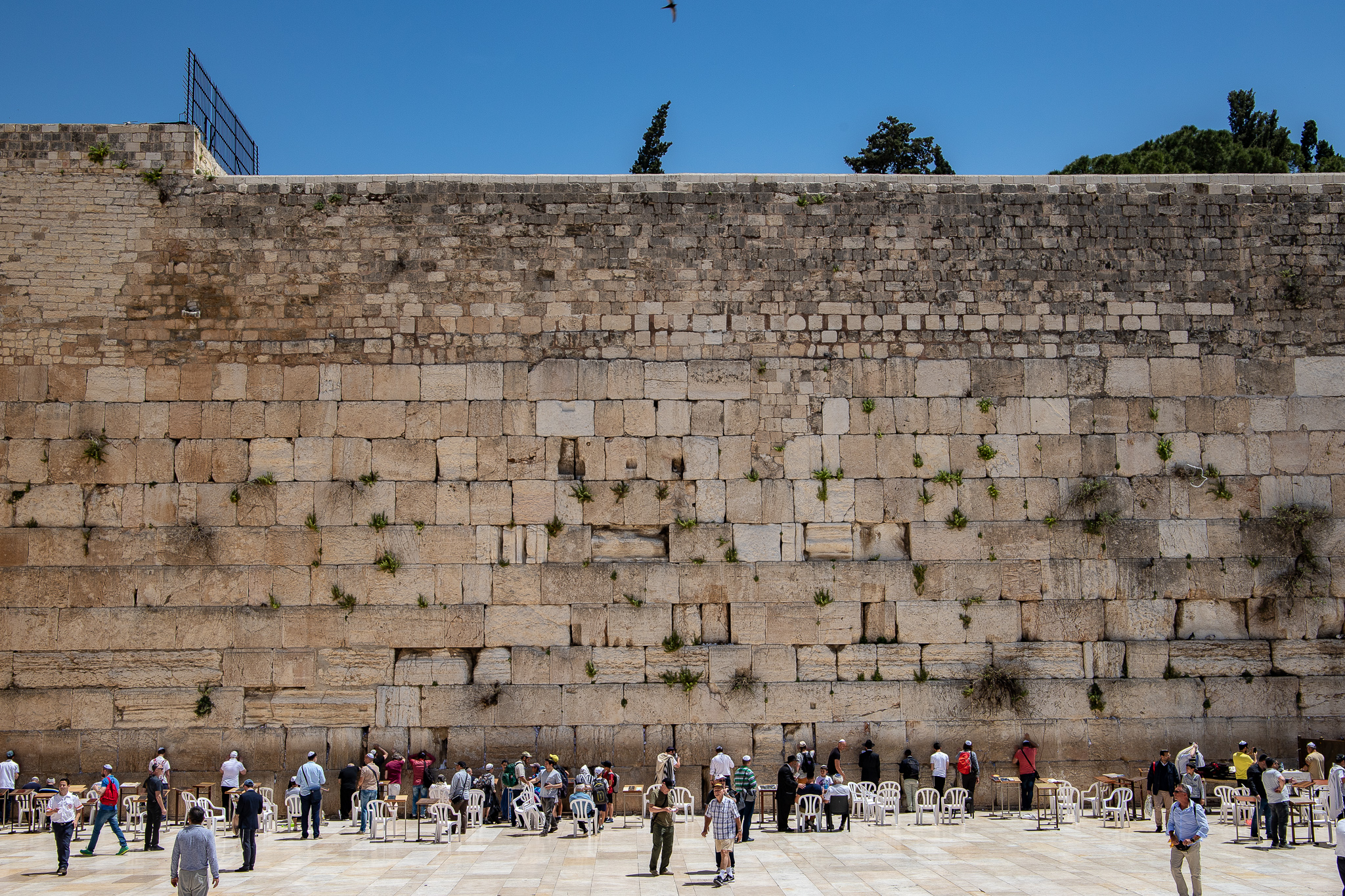 The Wailing Wall in front of the plaza
