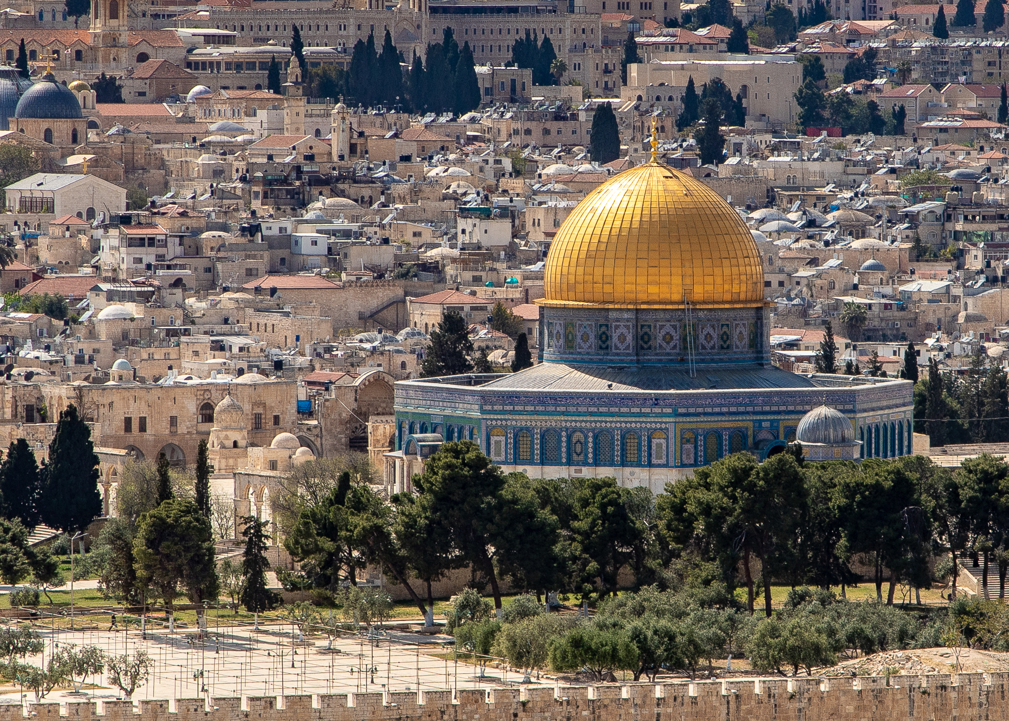 View of Dome of the Rock from Mt Olives
