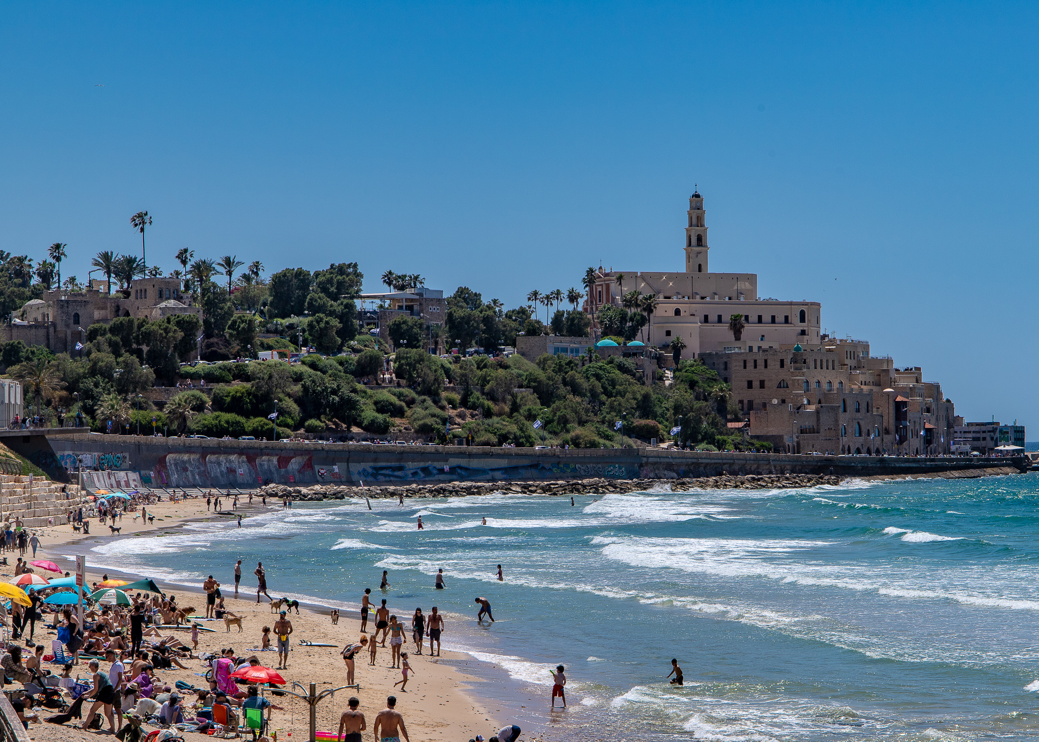 Enticing Jaffa as seen from the Tel Aviv Promenade