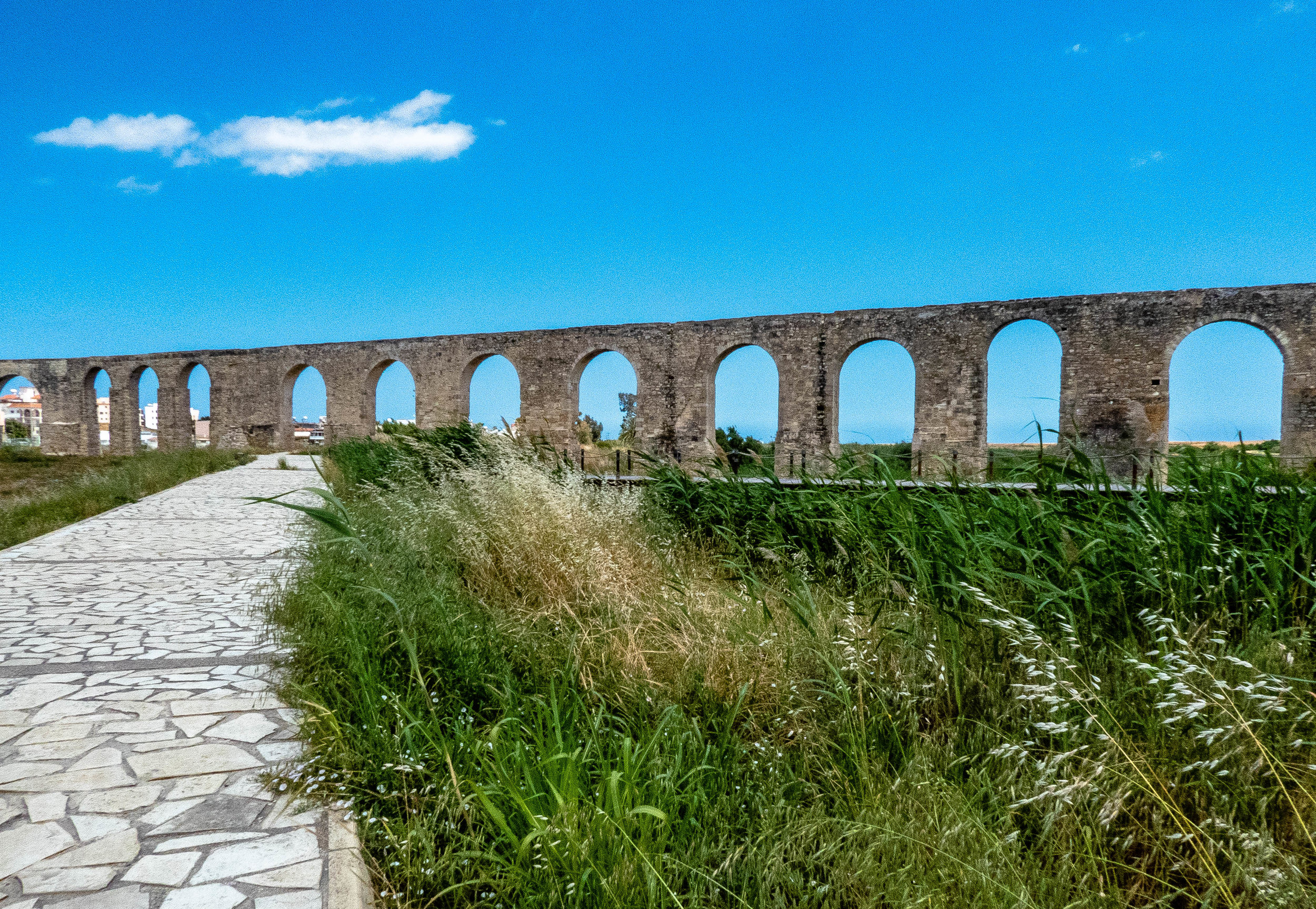 Heading towards Larnaca's Aqueduct