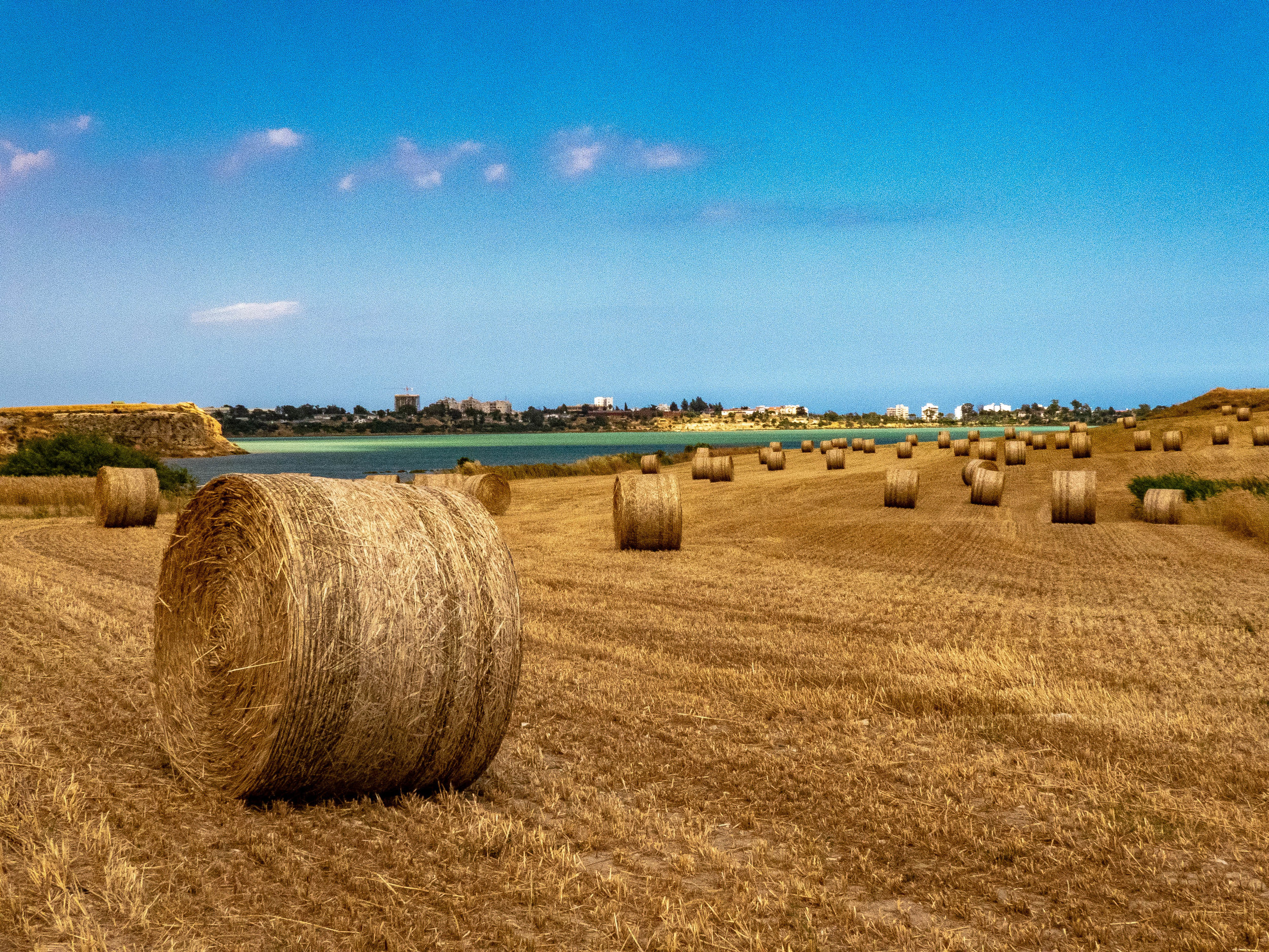 Hay bales everywhere