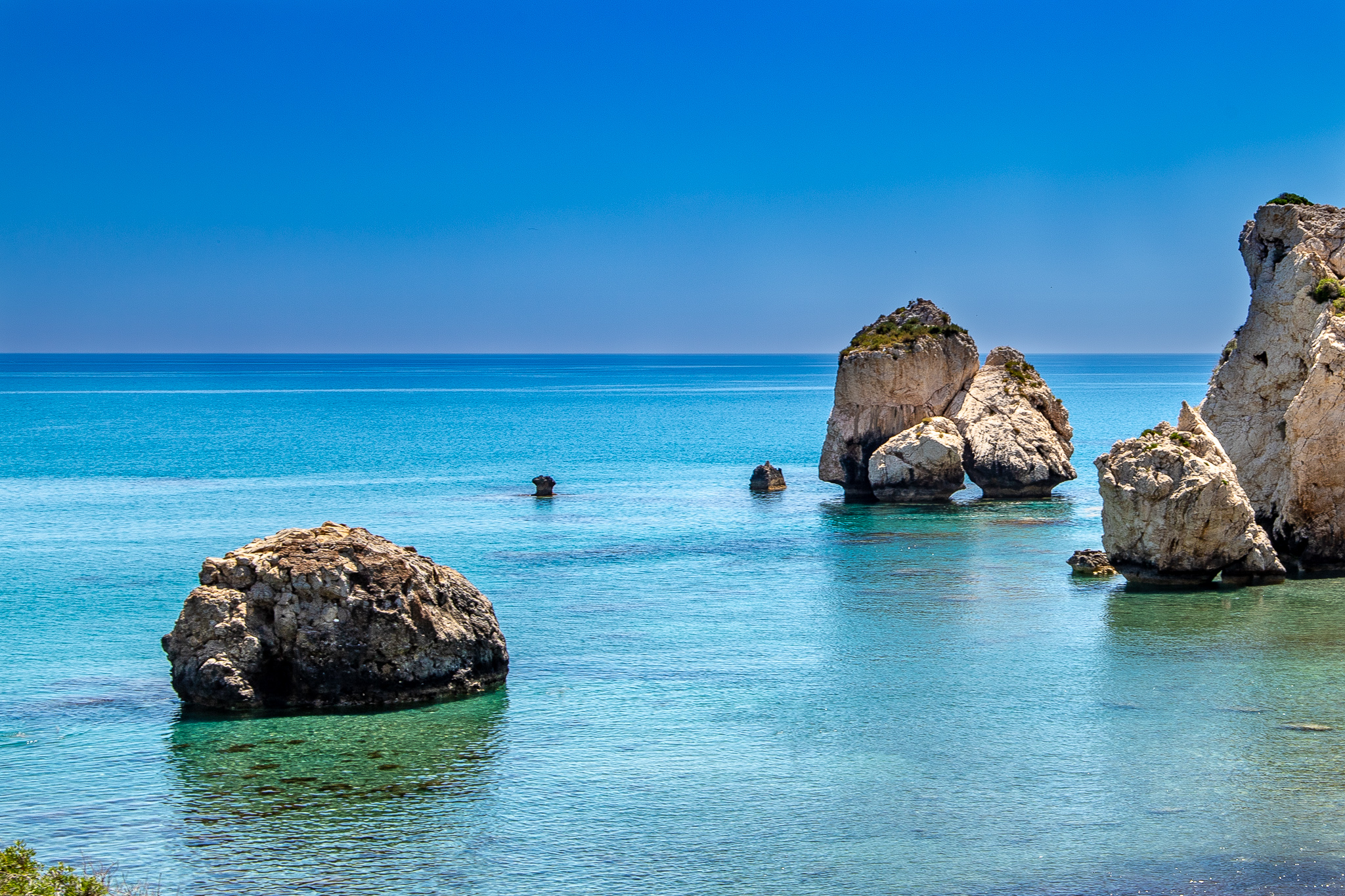 View out to Aphrodite's Rock
