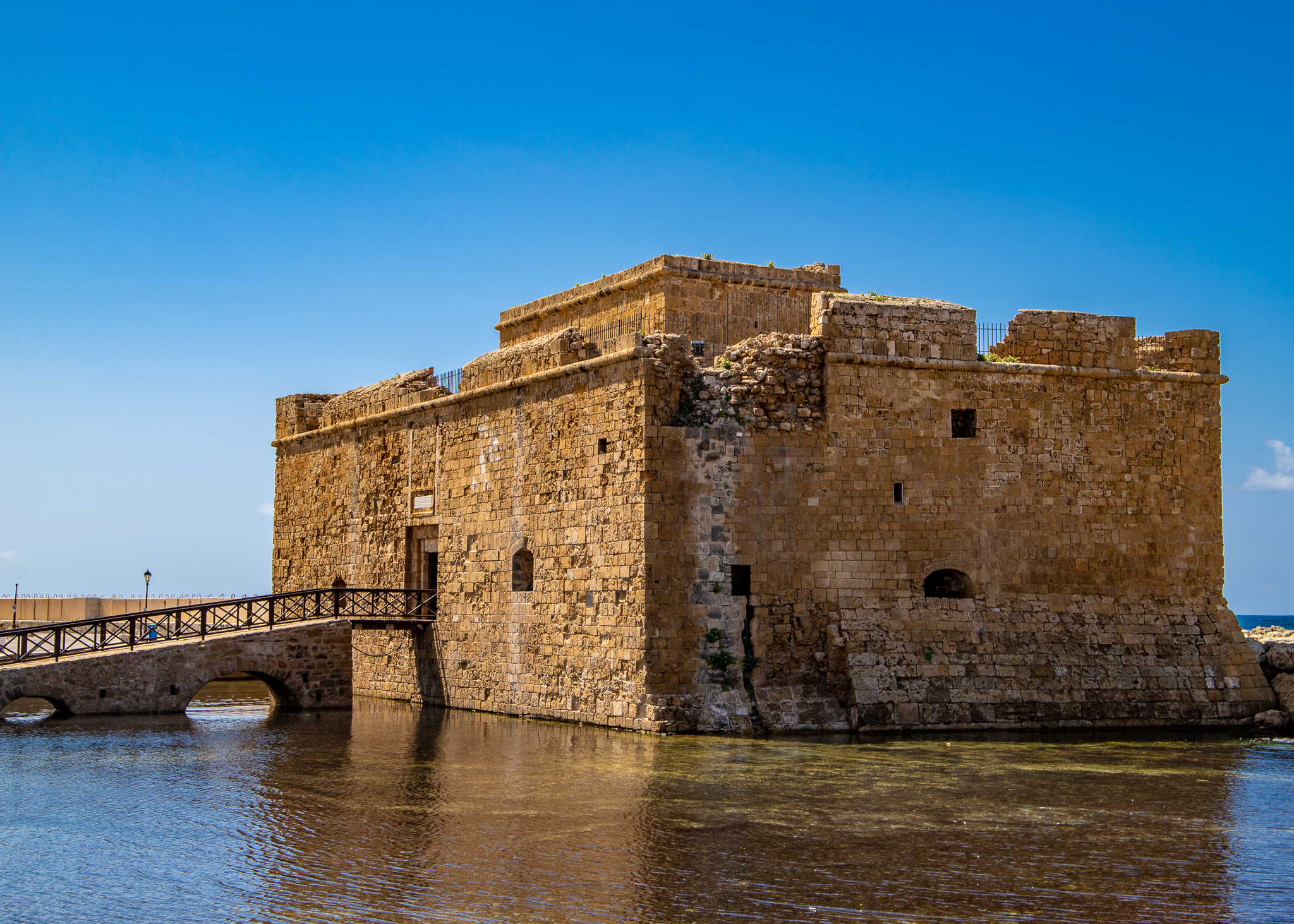 Pafos Castle with accompanying moat