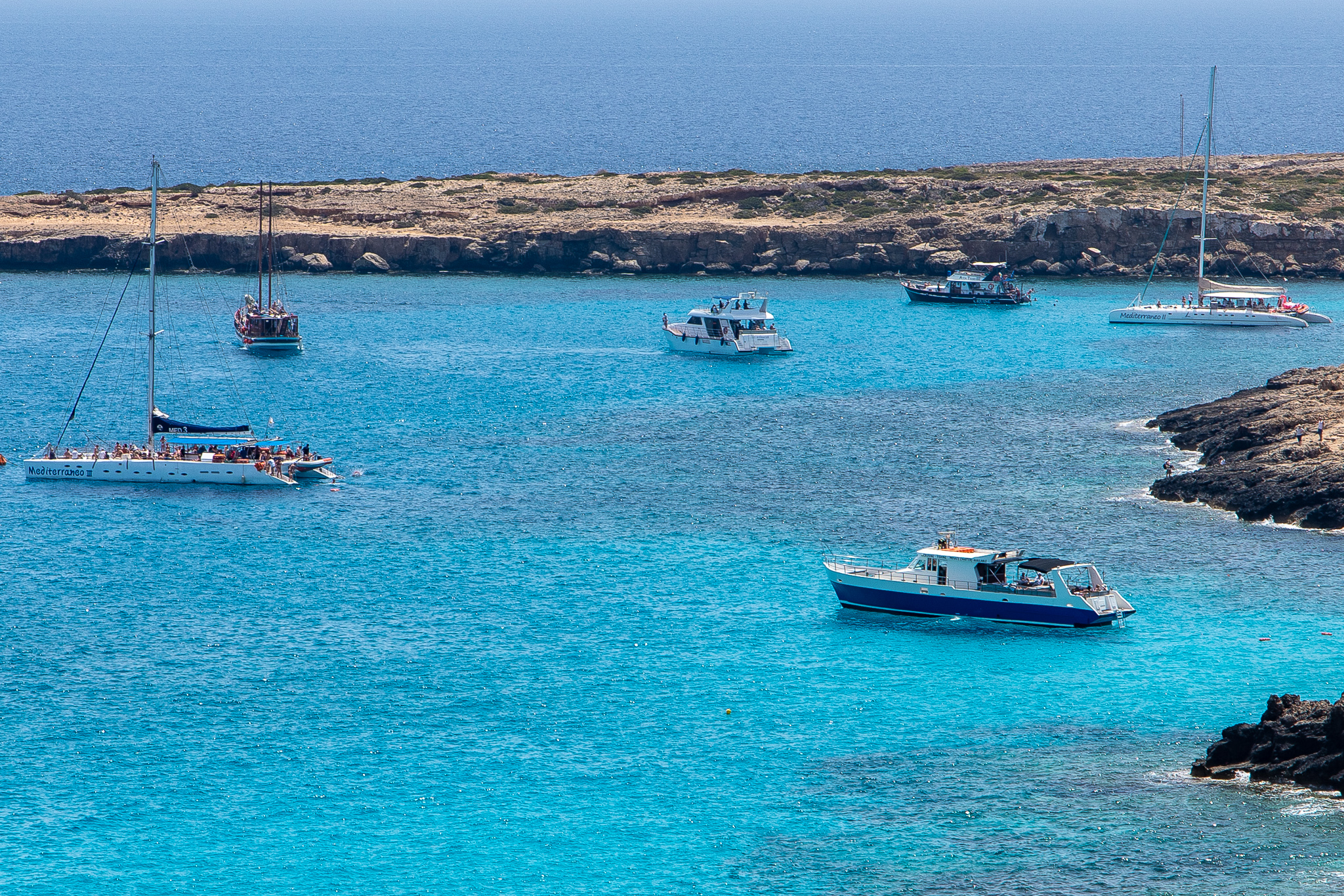 An extremely popular snorkelling/swimming spot for all the tourist boats