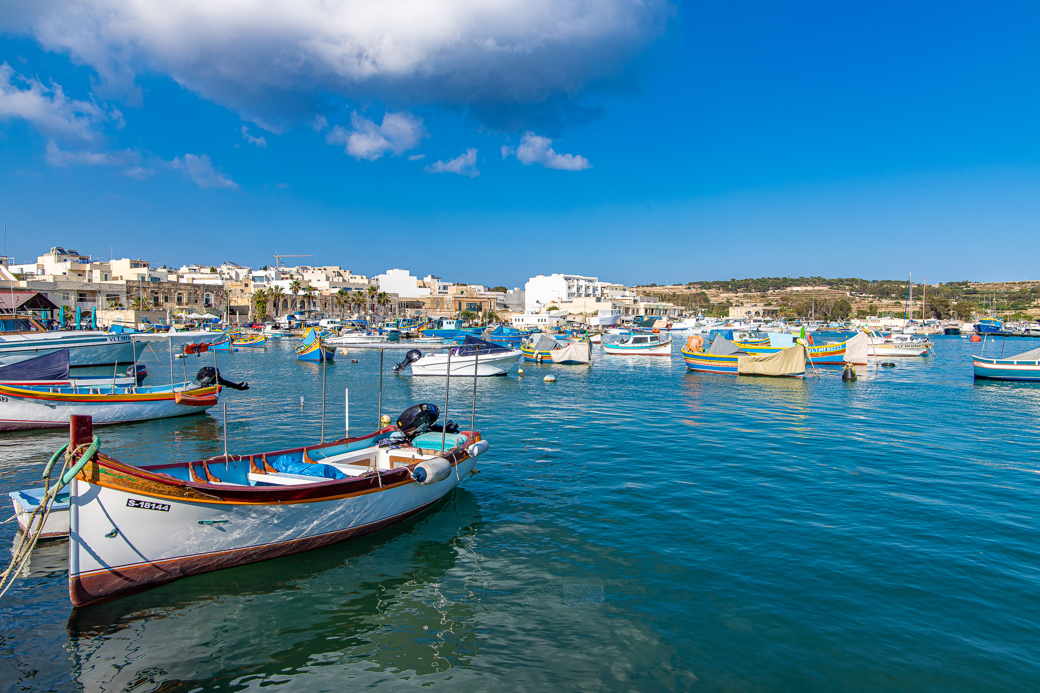Fishing boats in the harbour