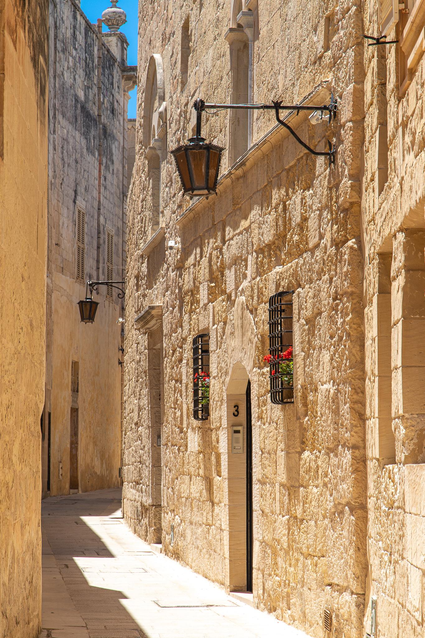 Quiet winding alleyways