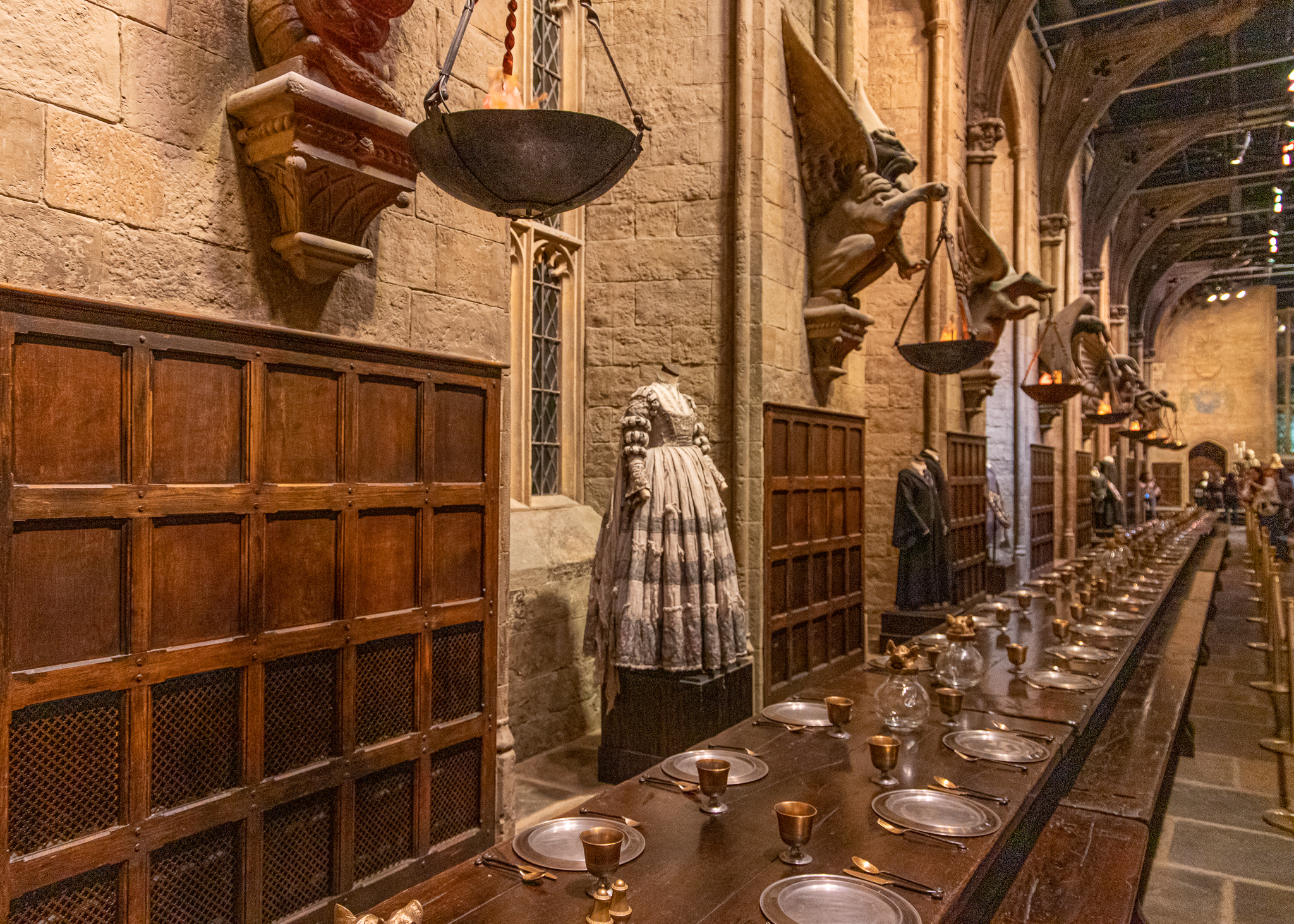 One of the Great Hall's feasting tables, unfortunately without materialising food