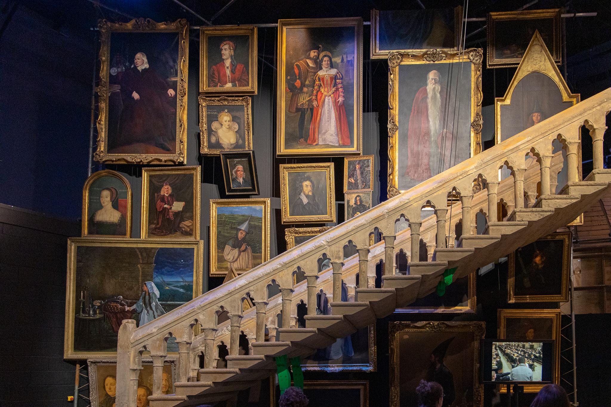 Moving staircase and portraits at Hogwarts