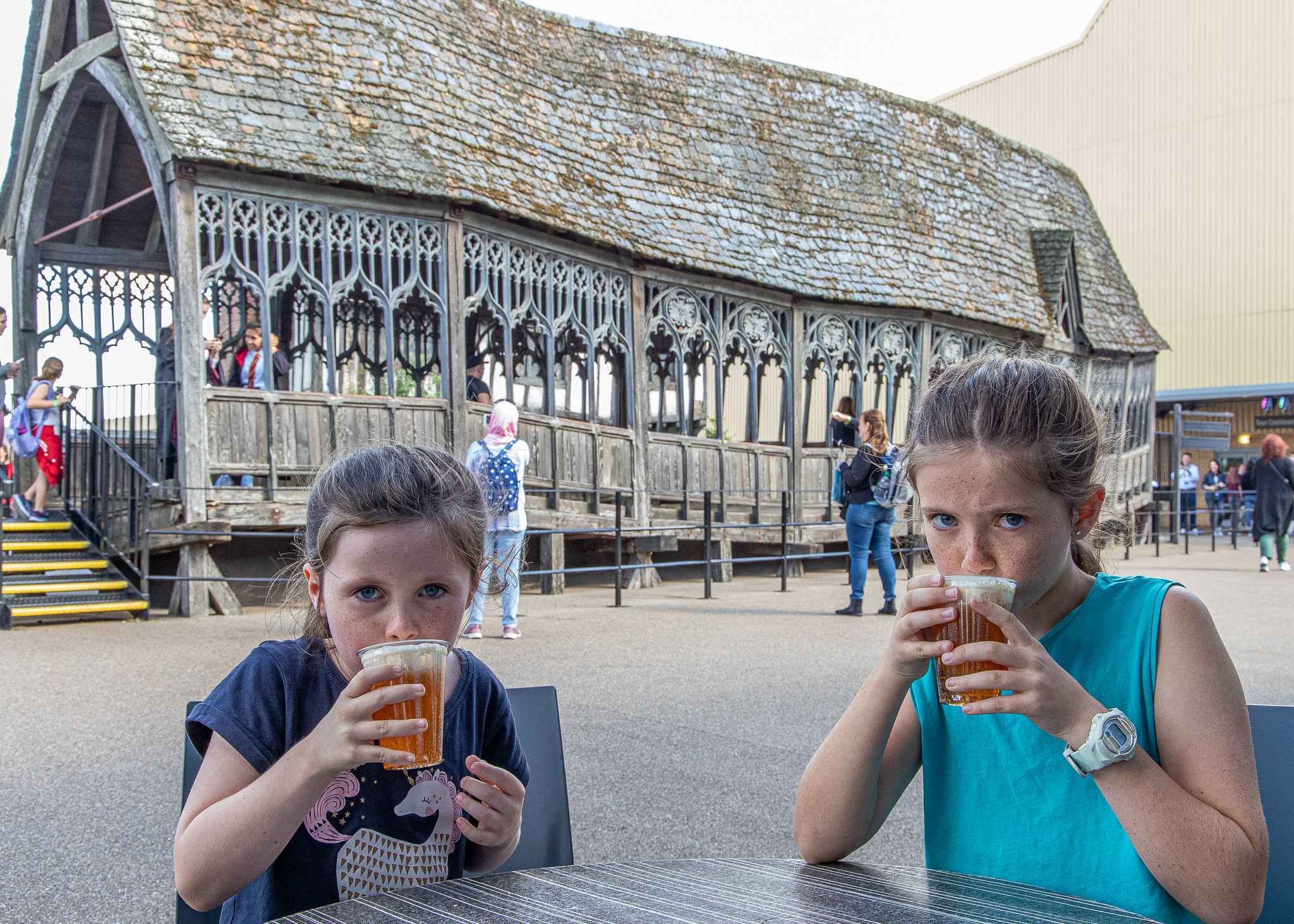 A cleansing beer in front of the Covered Bridge which was used at Hogwarts.