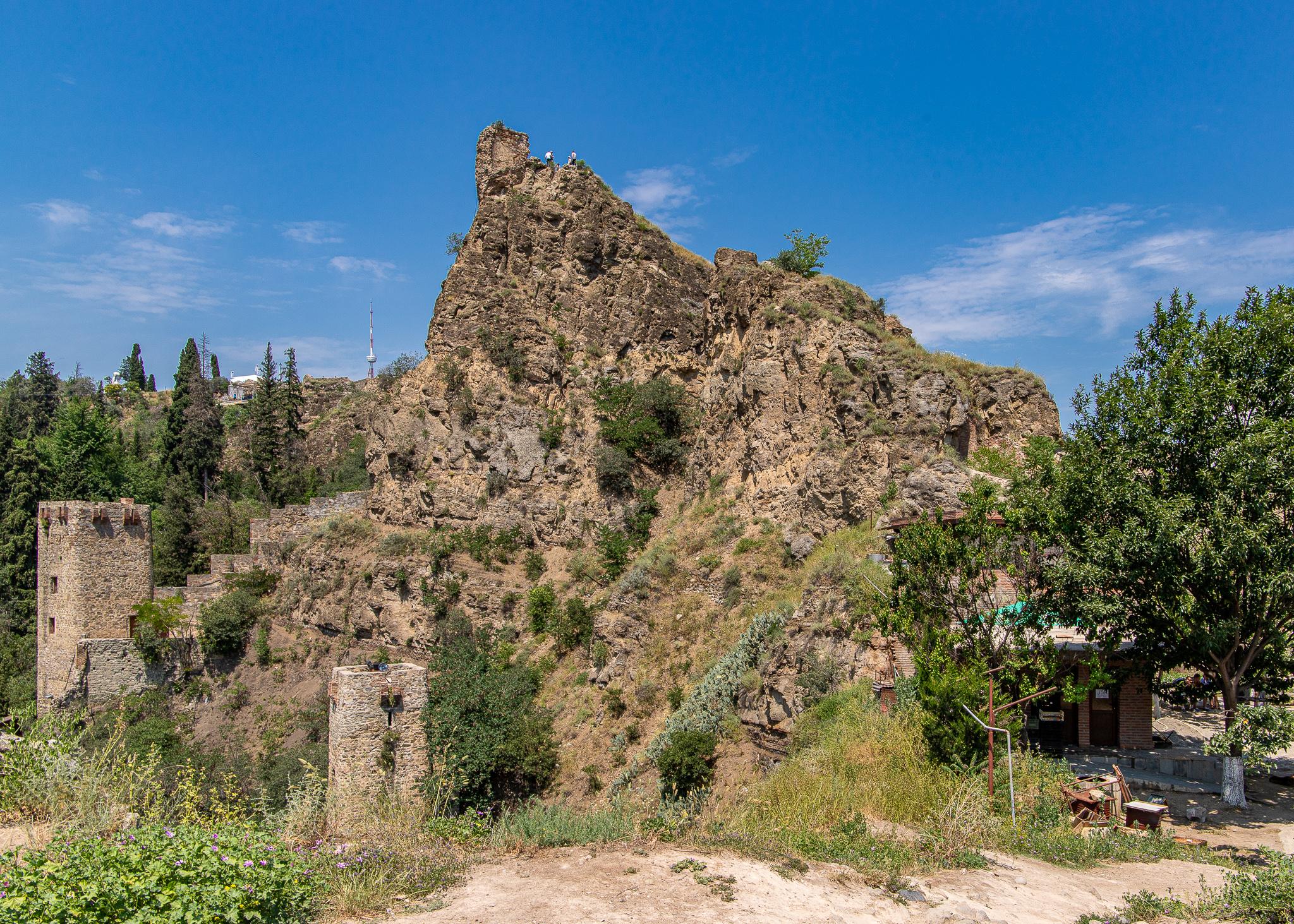 The ruins of Narikala Fortress
