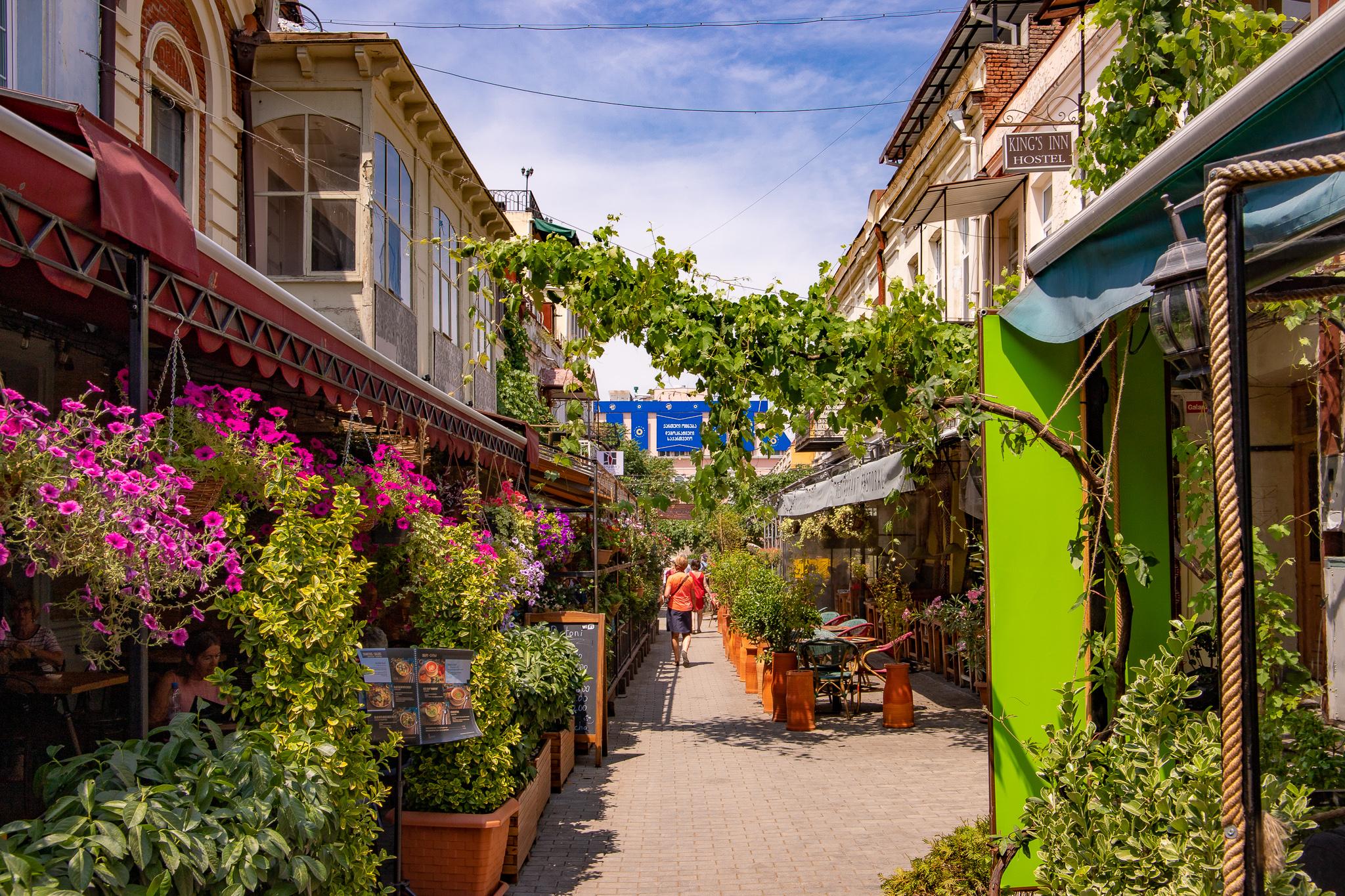 The evergreen Erekle II Street