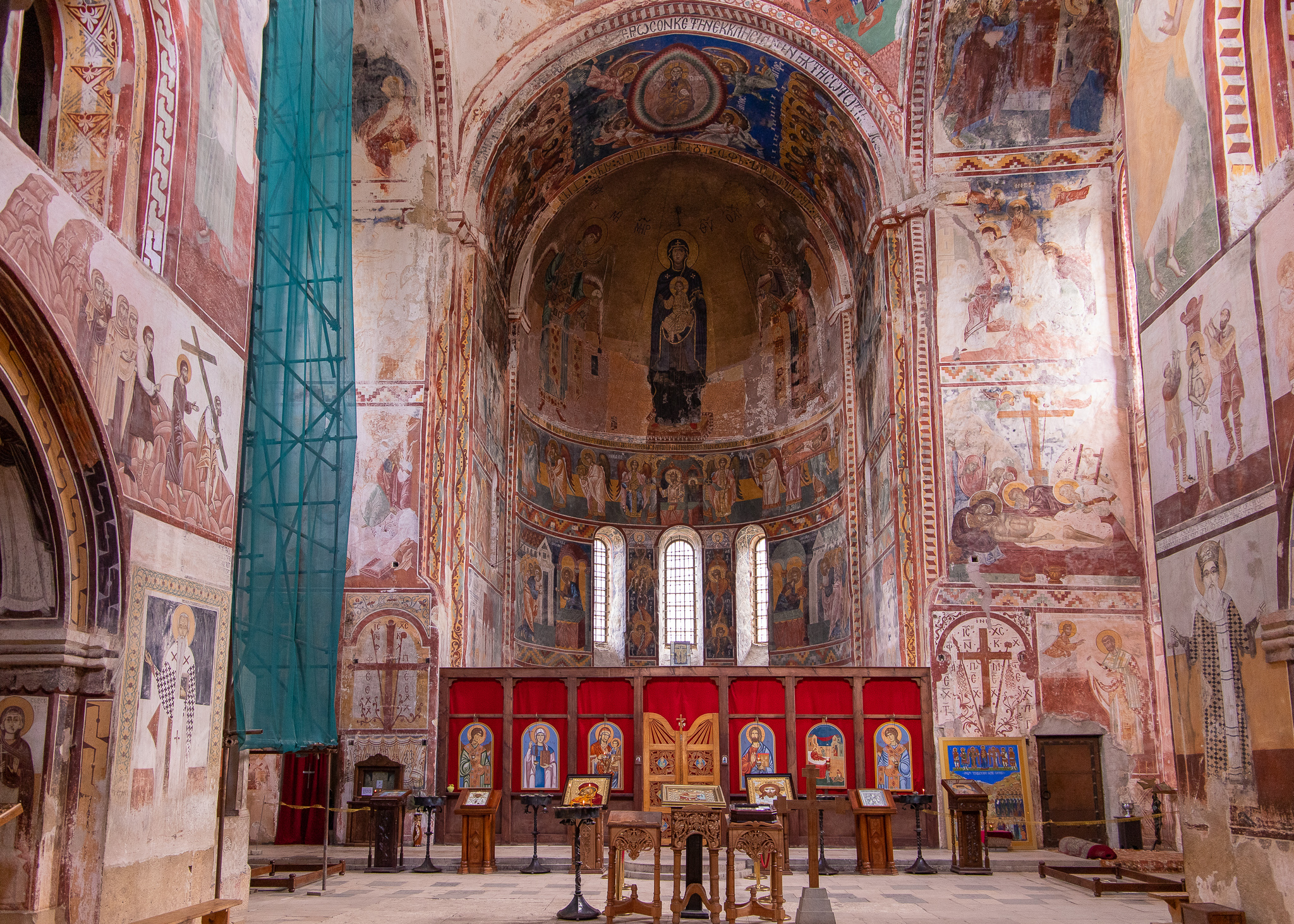 Top notch frescoes in the main apse