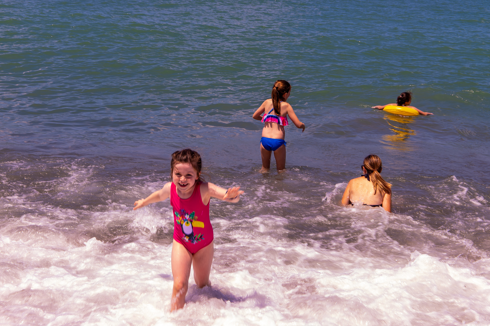 Kids, waves and water - always a sure hit
