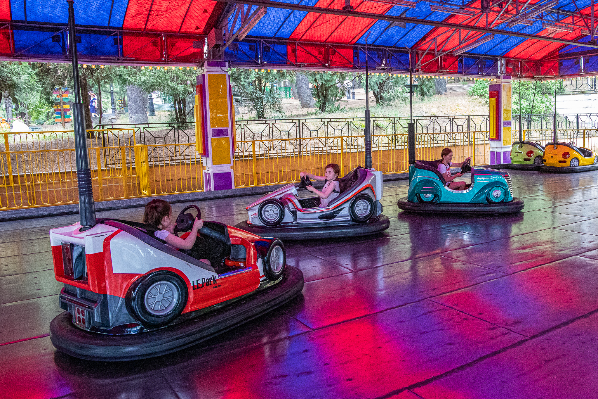 Driving a dodgem for kids is actually a lot harder than it looks