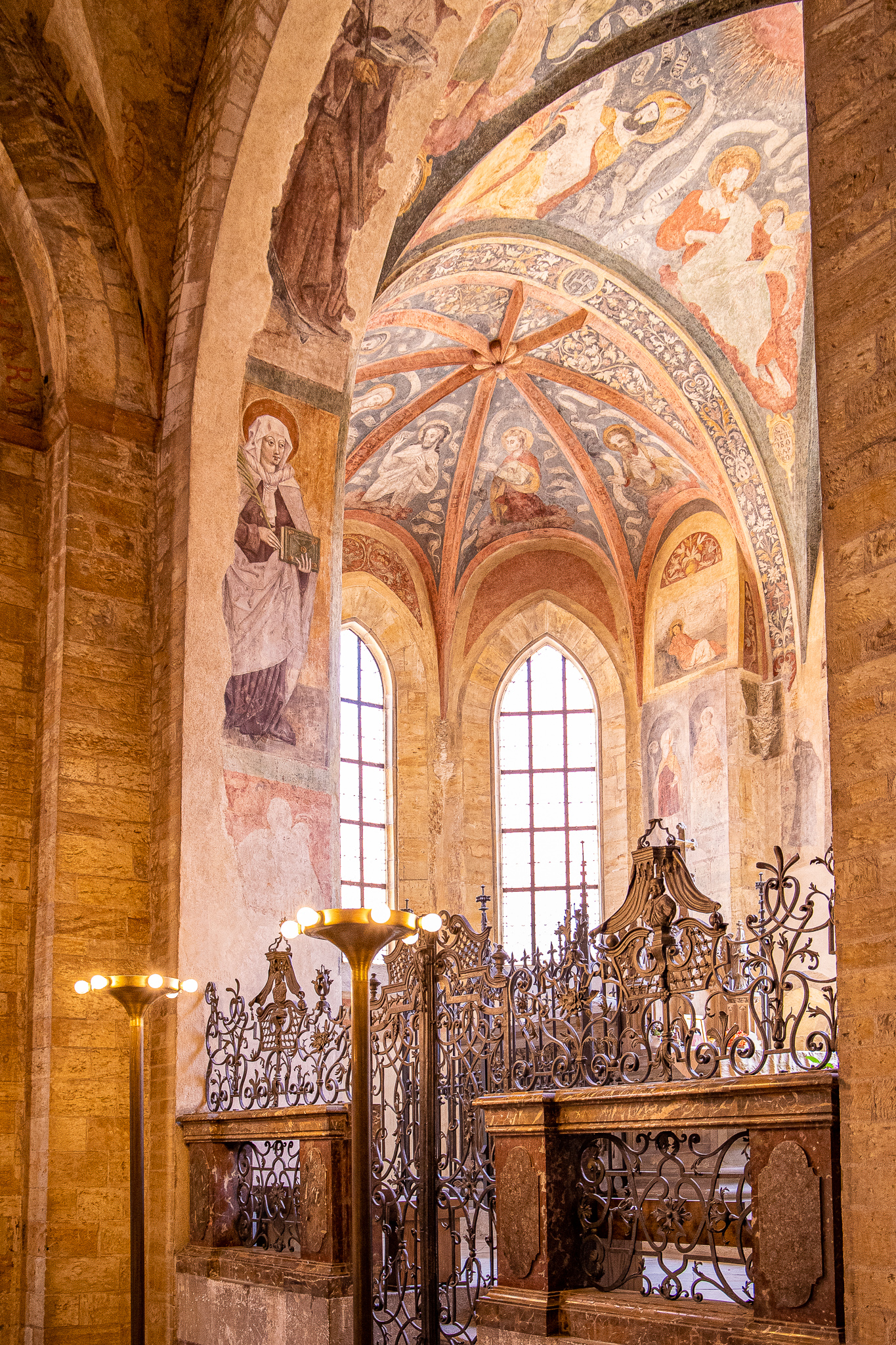 Stunning wall and ceiling frescoes
